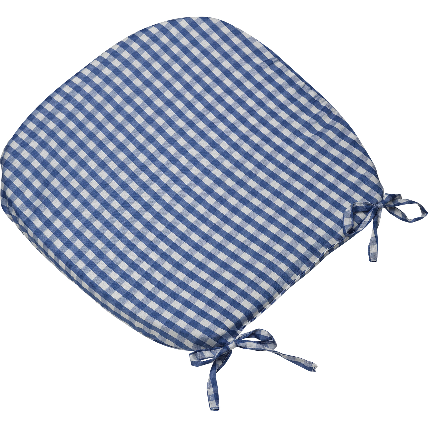 tie on rounded gingham chair seat pad cushion outdoor garden dining