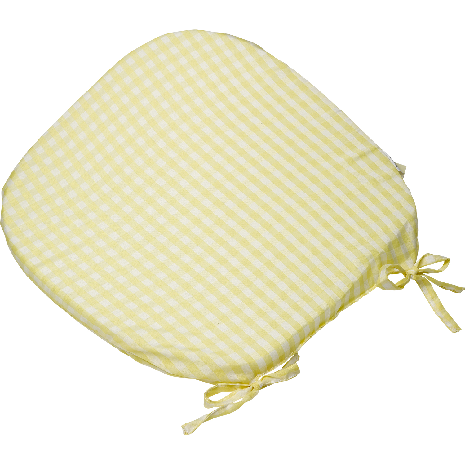 Tie on Rounded Gingham Chair Seat Pad Cushion Outdoor Garden Dining ...