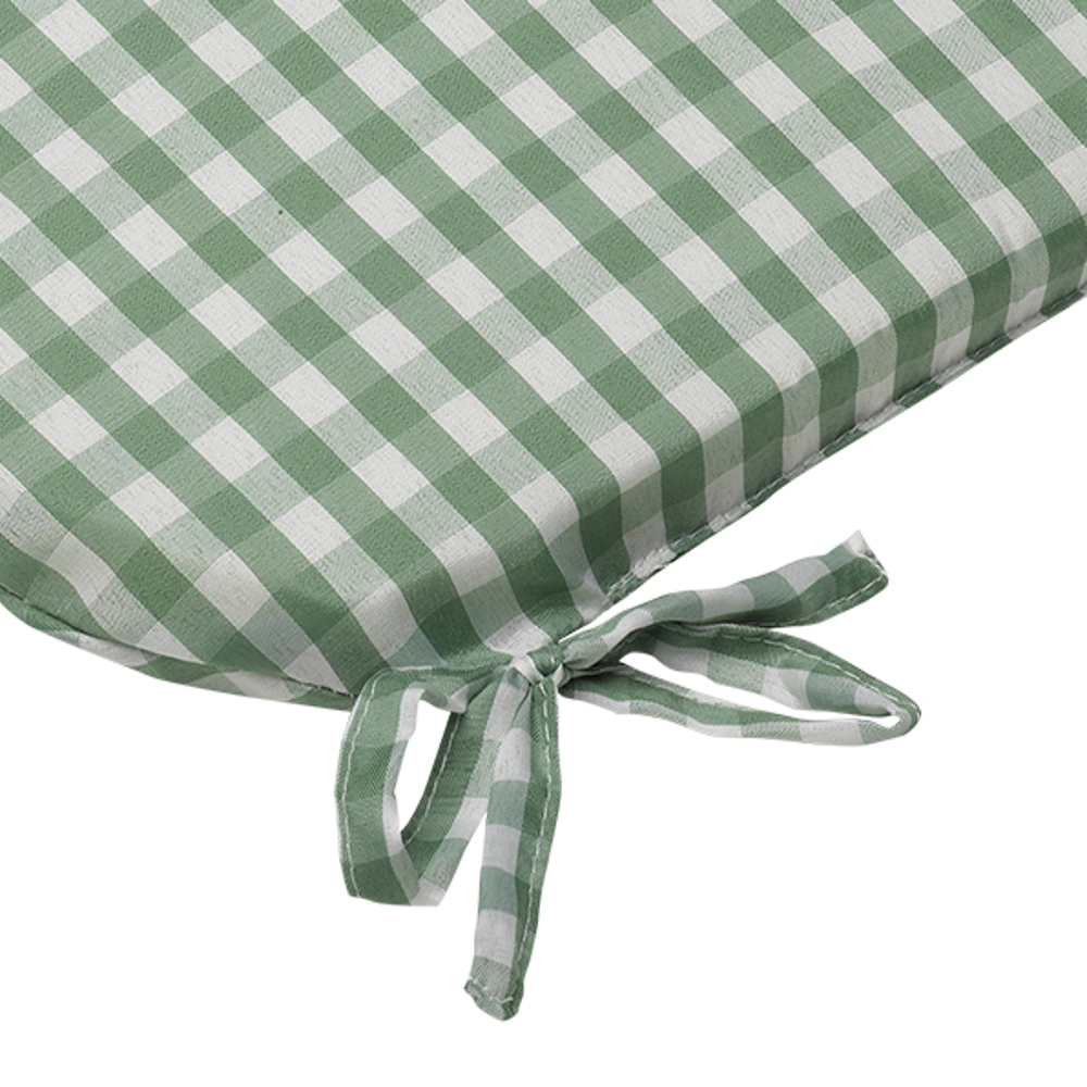 Gingham Check Tie On Seat Pad 16 X Kitchen Outdoor Dining Chair Cushion