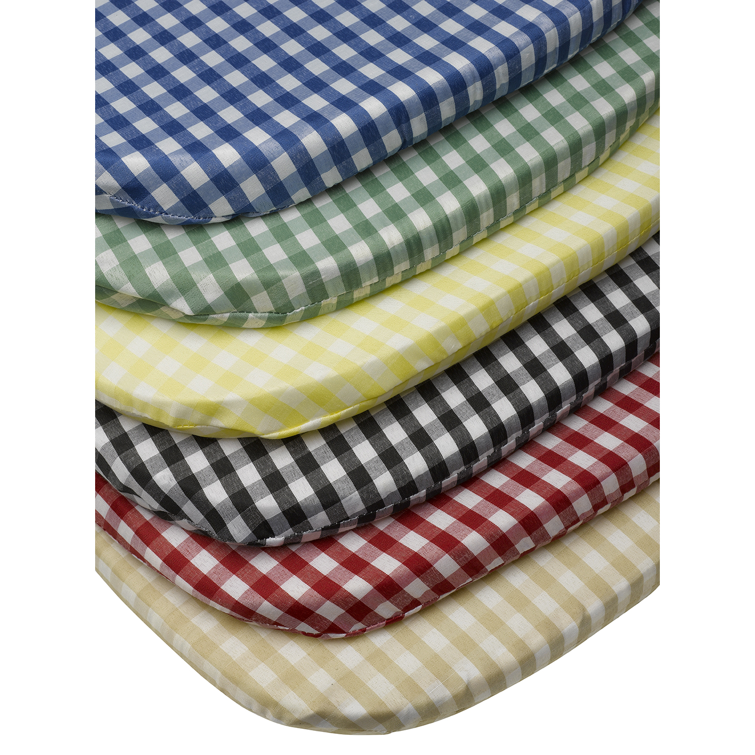 Details About Tie On Rounded Gingham Chair Seat Pad Cushion Outdoor Garden Dining Checked