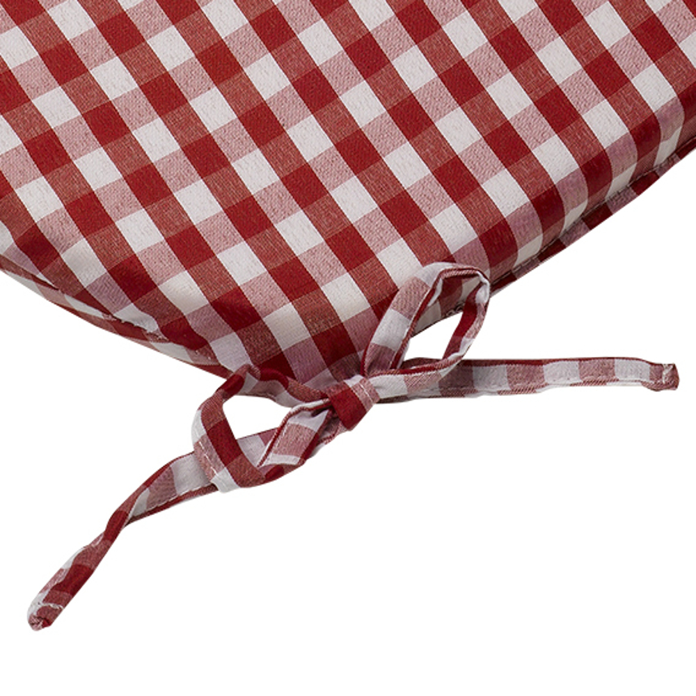 """Details about Gingham Check Tie On Seat Pad 8"""" x 8"""" Kitchen Outdoor  Dining Chair Cushion"""