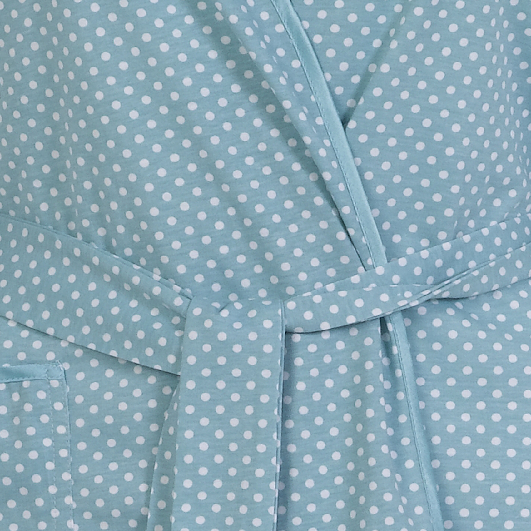 Womens Combed Cotton Polka Dot Dressing Gown Ladies Lightweight ...
