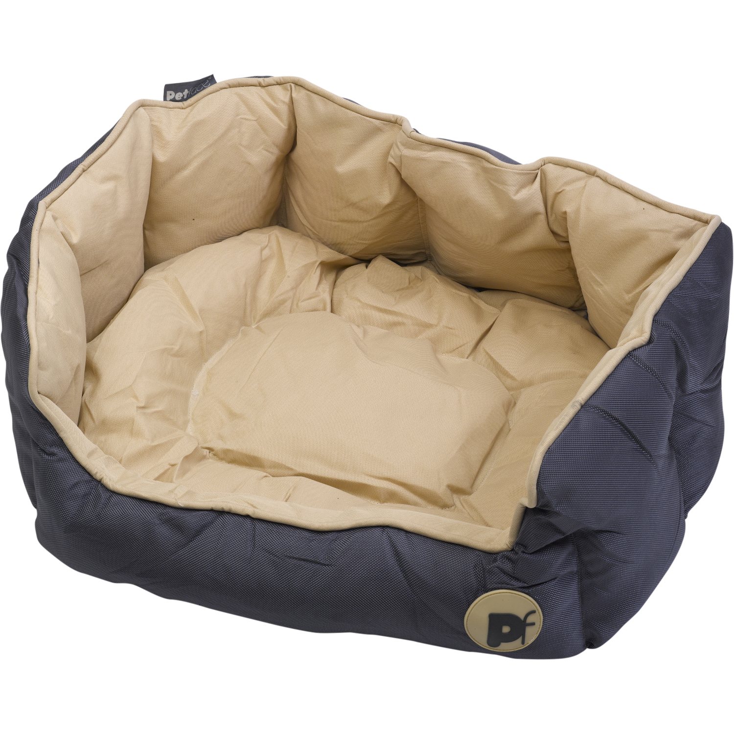 76594635d9e7 Petface Waterproof Oxford Pet Bed Puppy Dog Luxury Oval or Square Bedding  Basket   eBay