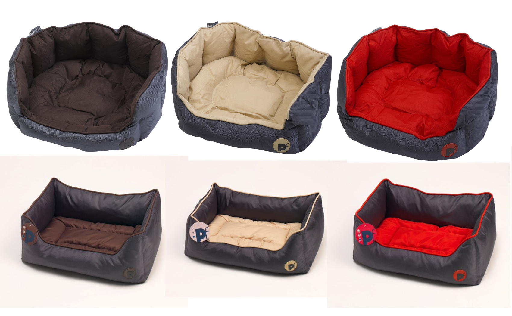 Petface Oxford Medium Dog Bed Red