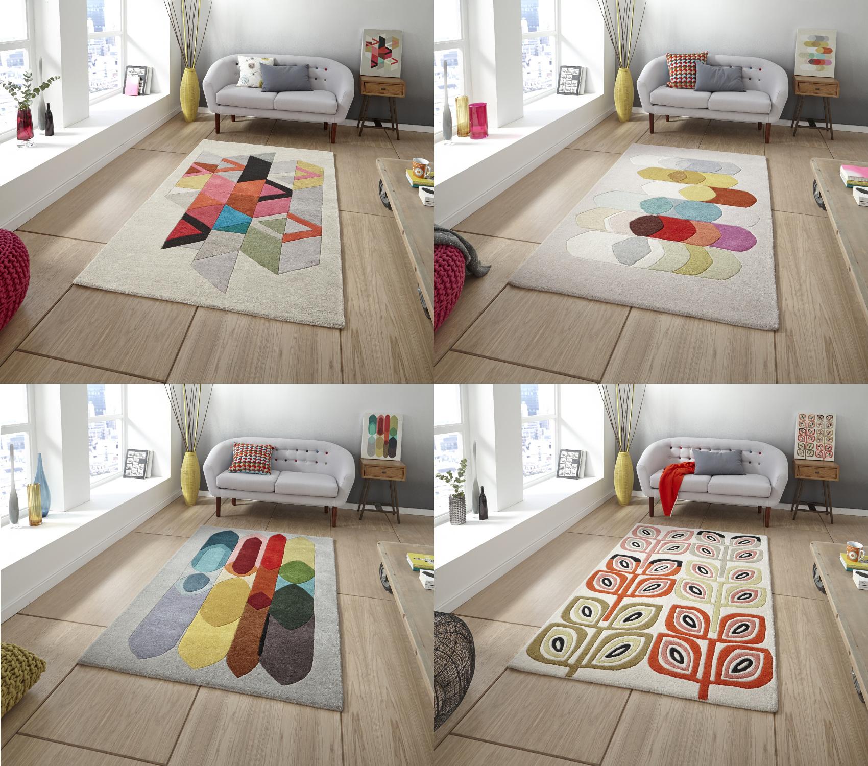 Designer Wool Blend Rug Inaluxe Bold Multi Coloured Large
