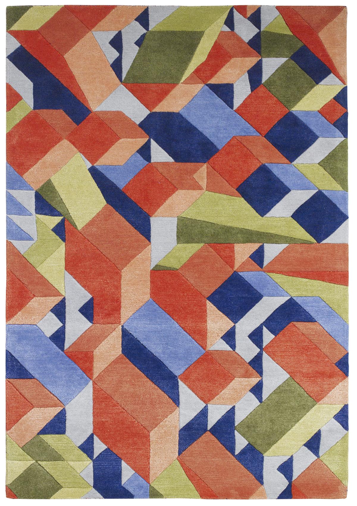 geometric rug pattern. Designer Wool Blend Geometric Rug Adam Daly Multi Colour Modern Hand Tufted Mat | EBay Pattern