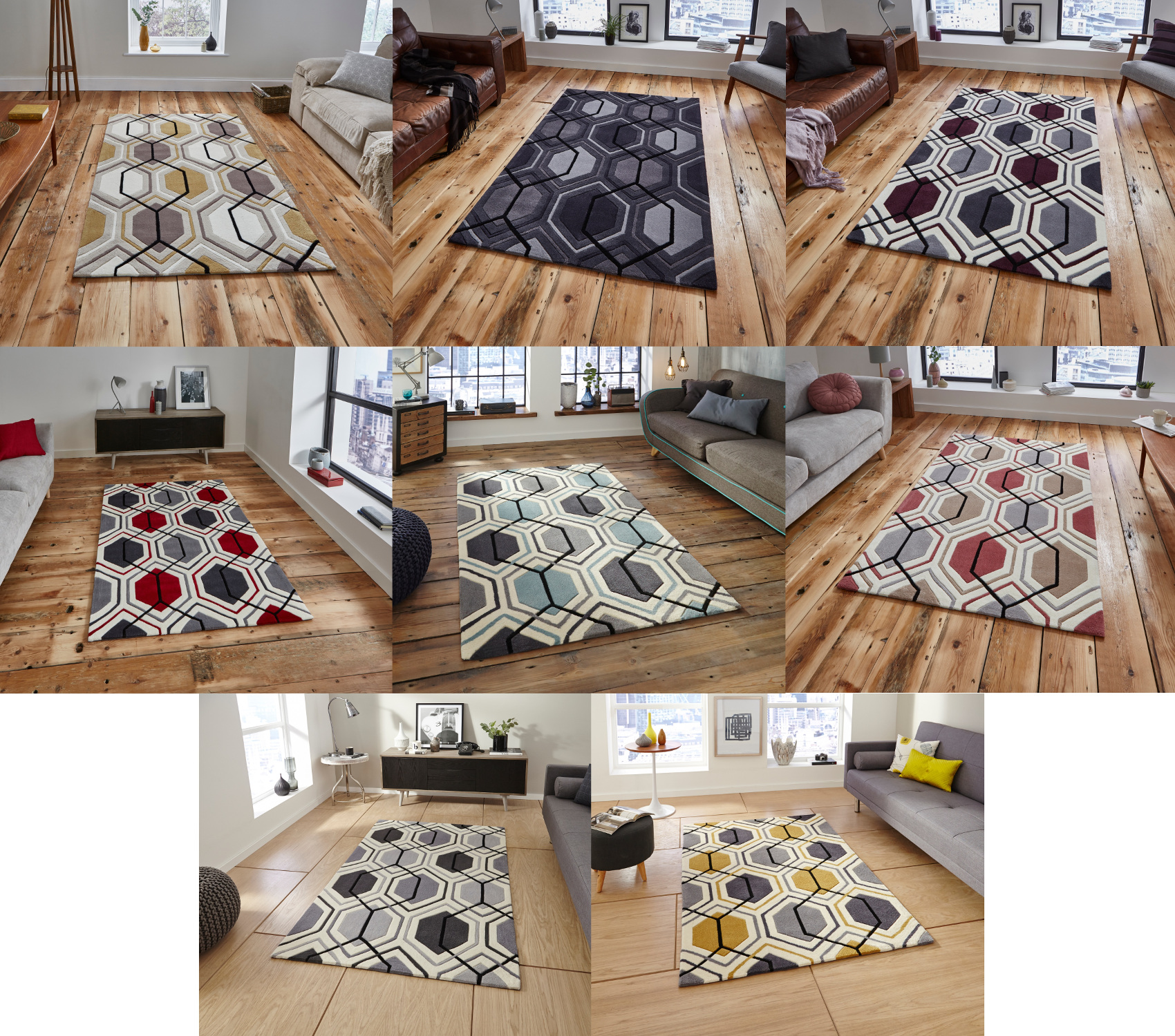 Hong kong hexagon rug 100 acrylic hand tufted large for 007 room decor
