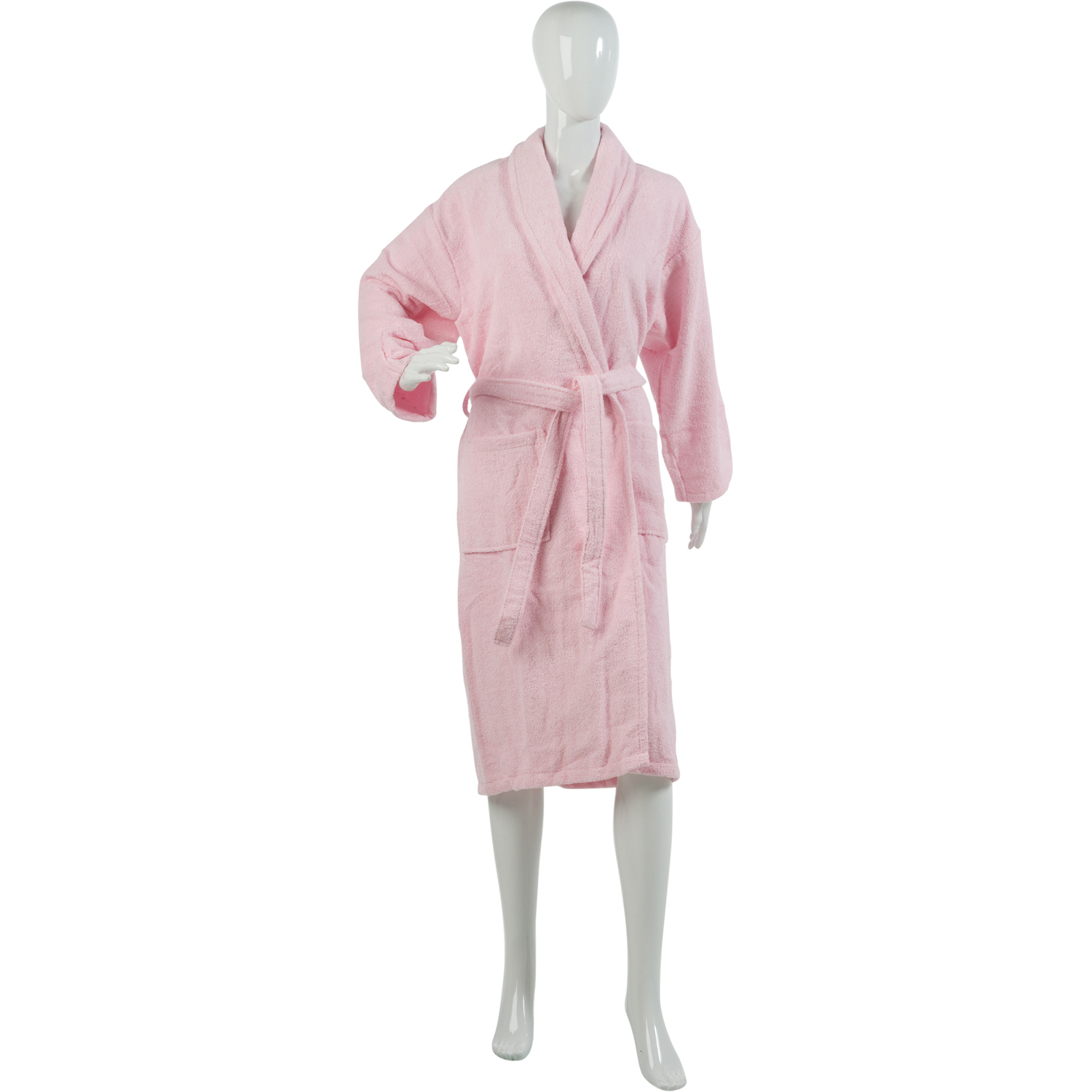 Ladies Plain Towelling Dressing Gown Womens 100% Cotton Wrap Around Bath  Robe 6275c9415