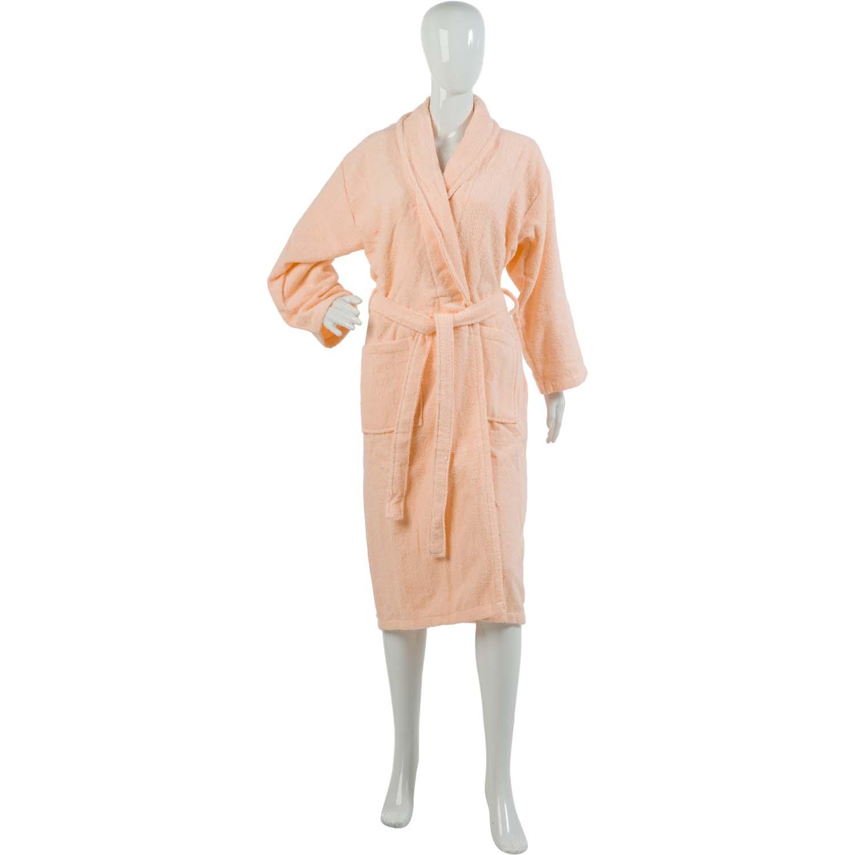 Ladies Plain Towelling Dressing Gown Womens 100% Cotton Wrap Around Bath  Robe 6275c9415