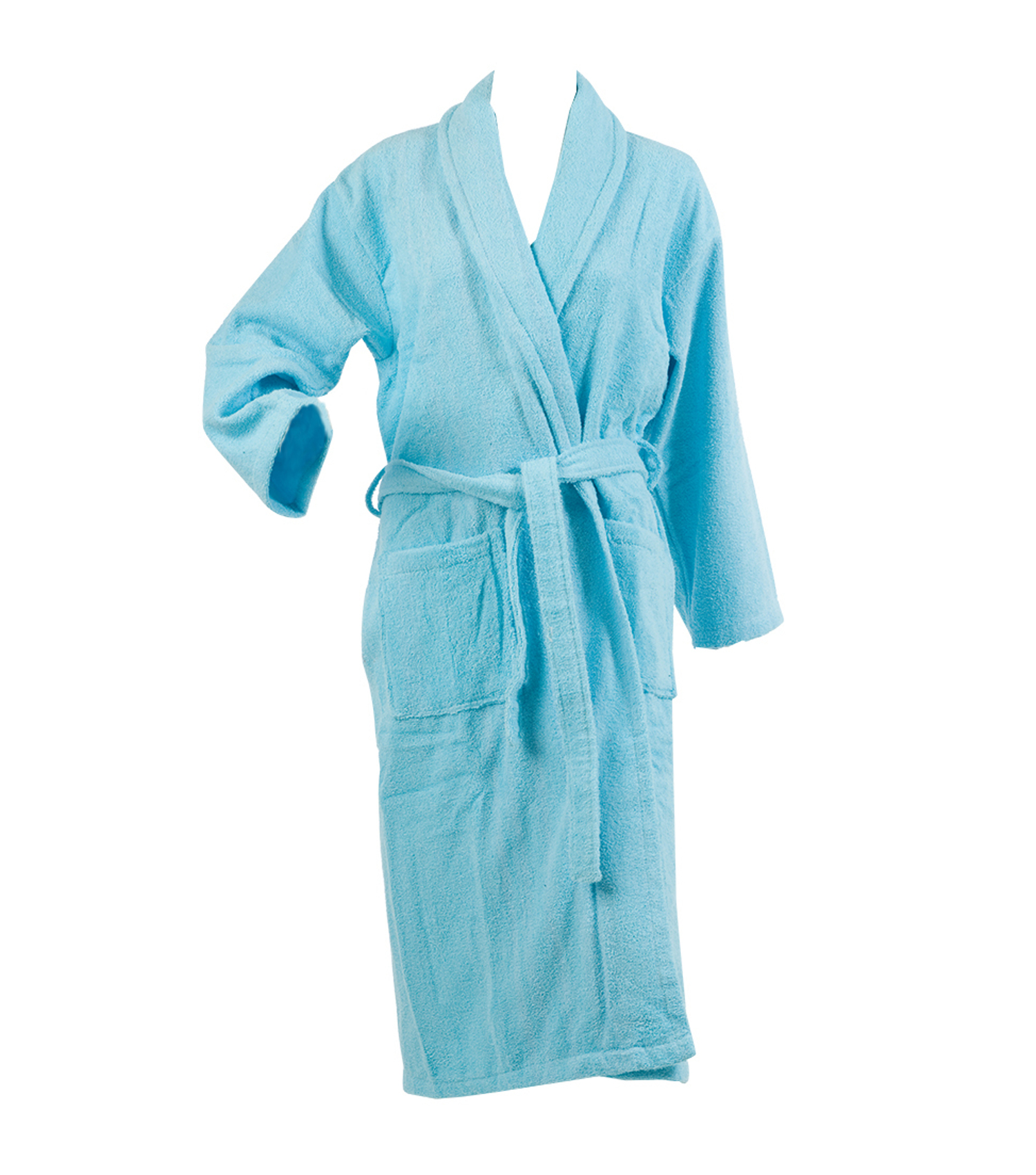 Ladies Plain Towelling Dressing Gown Womens 100% Cotton Wrap Around ... b12f83859
