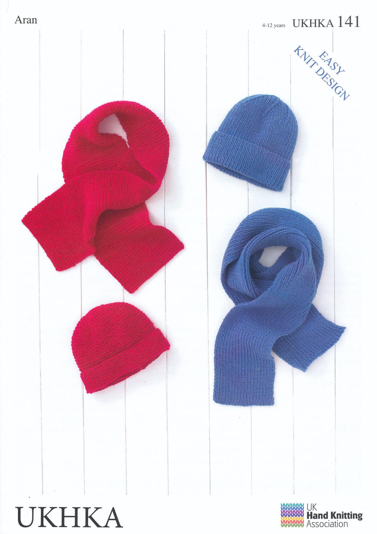 Aran Yarn Knitting Pattern Ukhka 141 For Easy Knit Kids Childrens