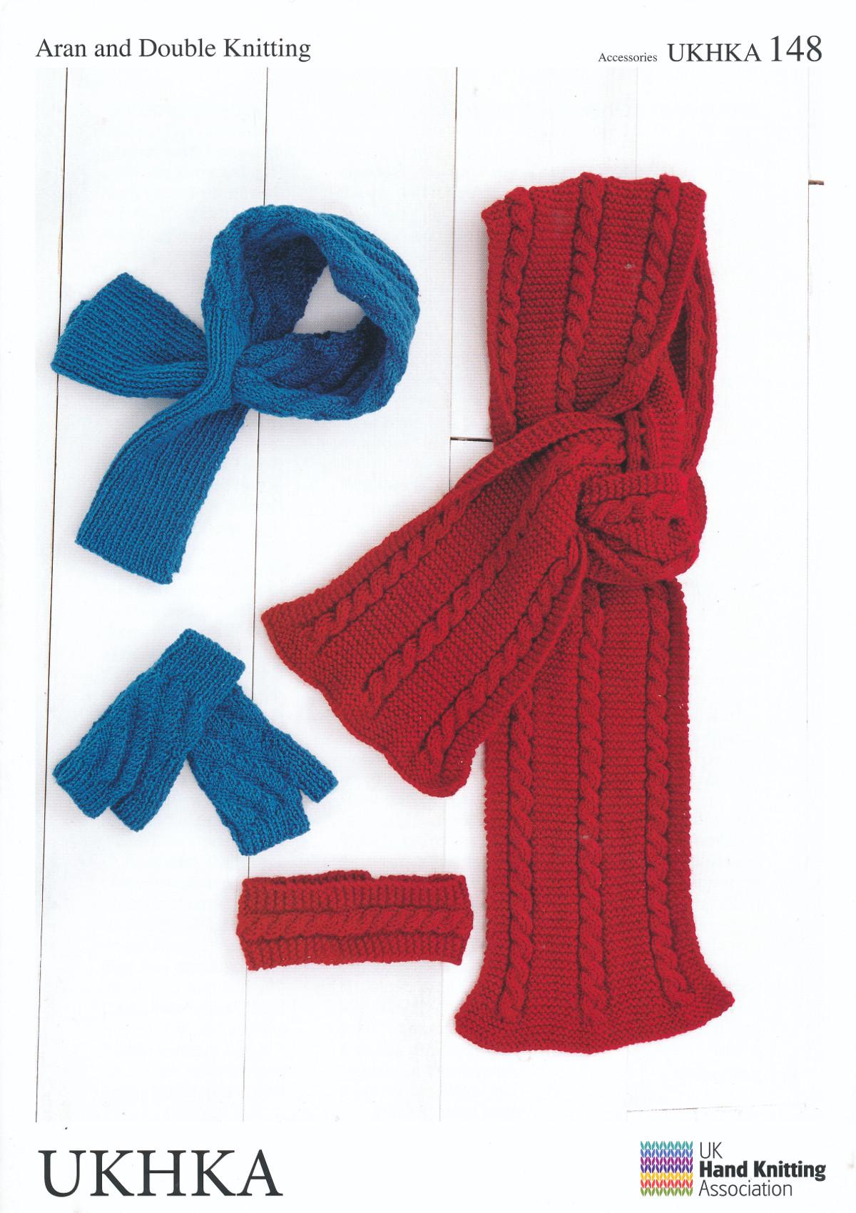 Mittens Headband Neck Cuff Scarf Knitting Pattern Double Knit DK ...