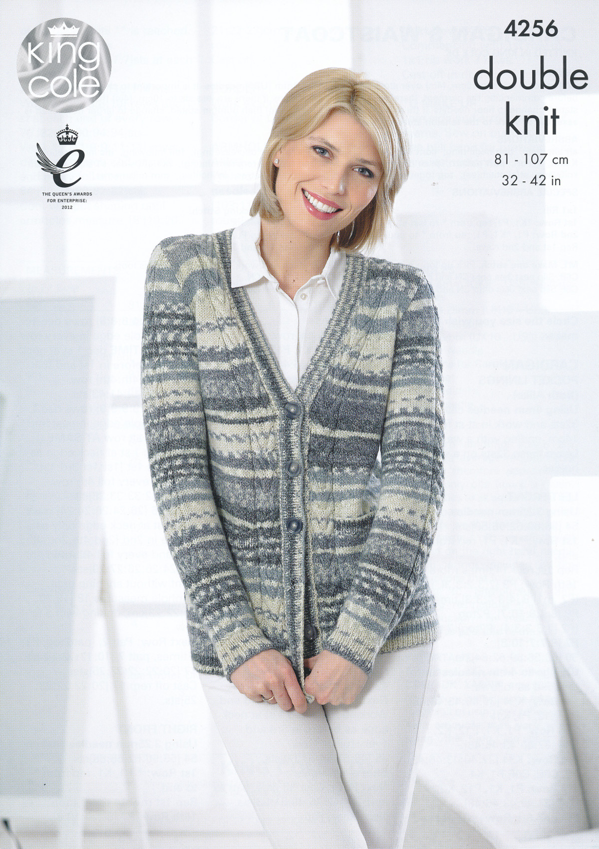 King Cole Ladies Double Knitting Pattern Cable Knit Cardigan ...