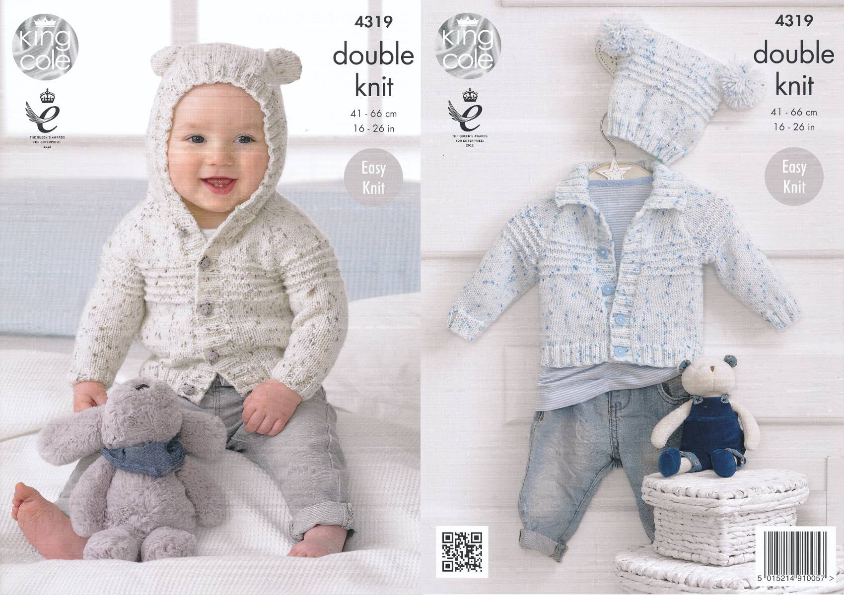 King Cole Double Knitting Pattern Baby Cardigans Hat Easy Knit ...