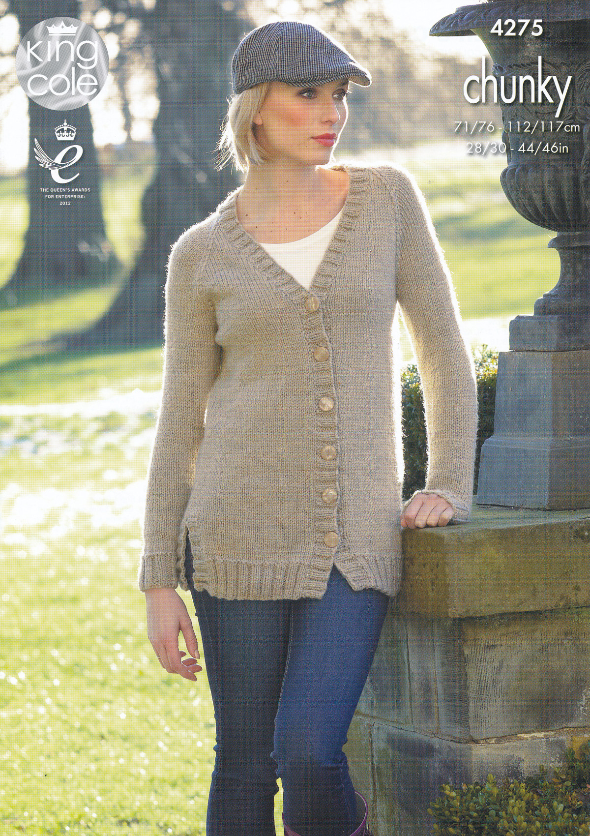 King Cole Ladies Magnum Chunky Knitting Pattern V Neck Cardigan ...