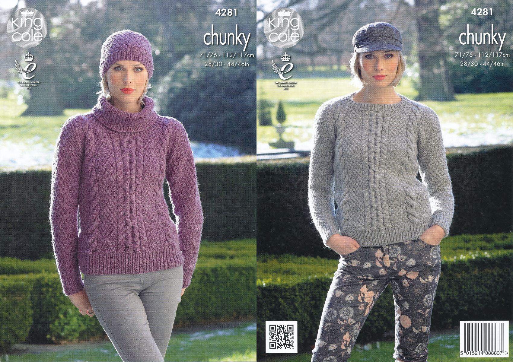 Womens chunky knit pattern king cole ladies cable detail sweater item description this chunky knitting pattern leaflet 4281 by king cole bankloansurffo Gallery