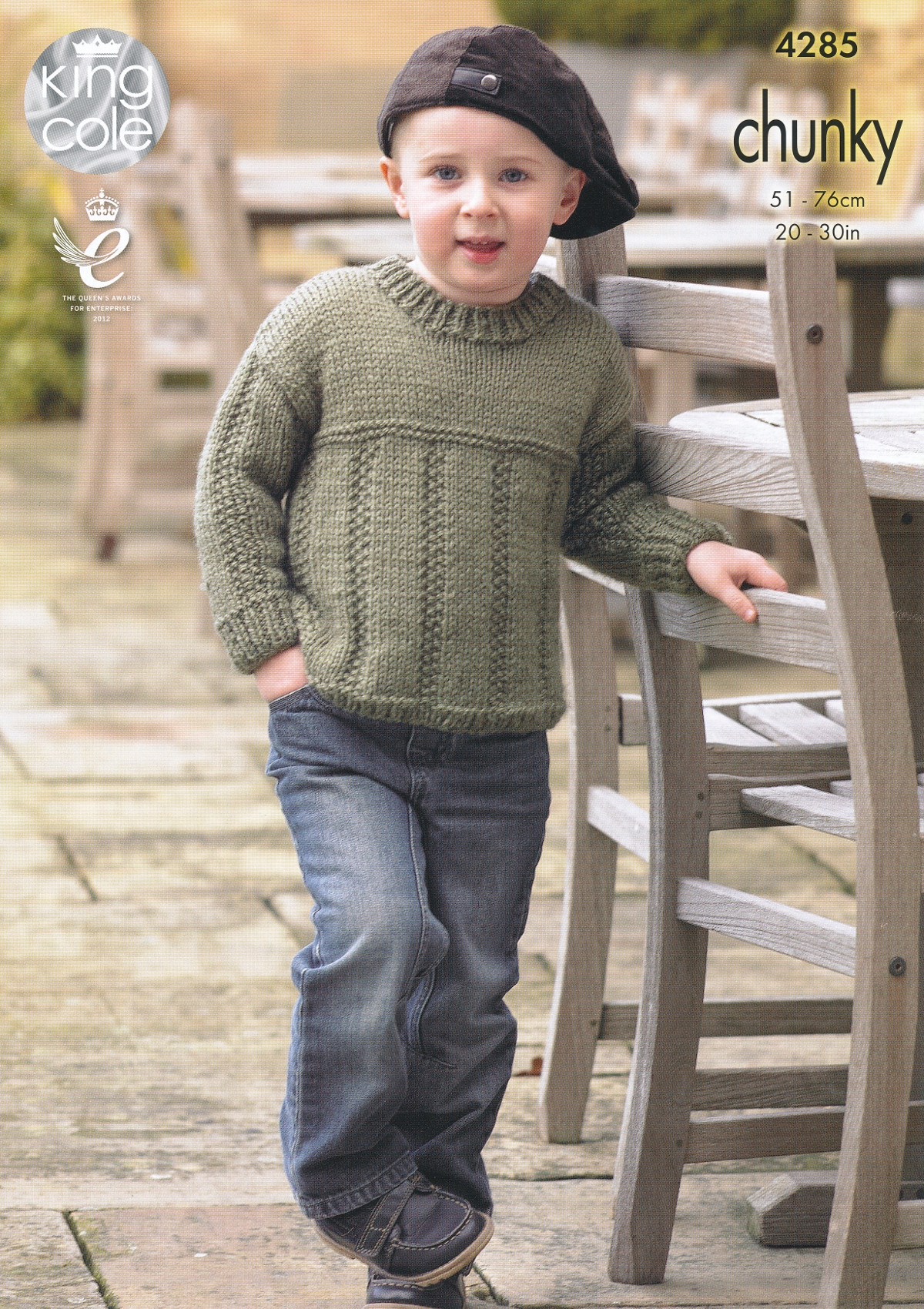 Kids Chunky Knitting Pattern King Cole Childrens Sweater Jumper ...
