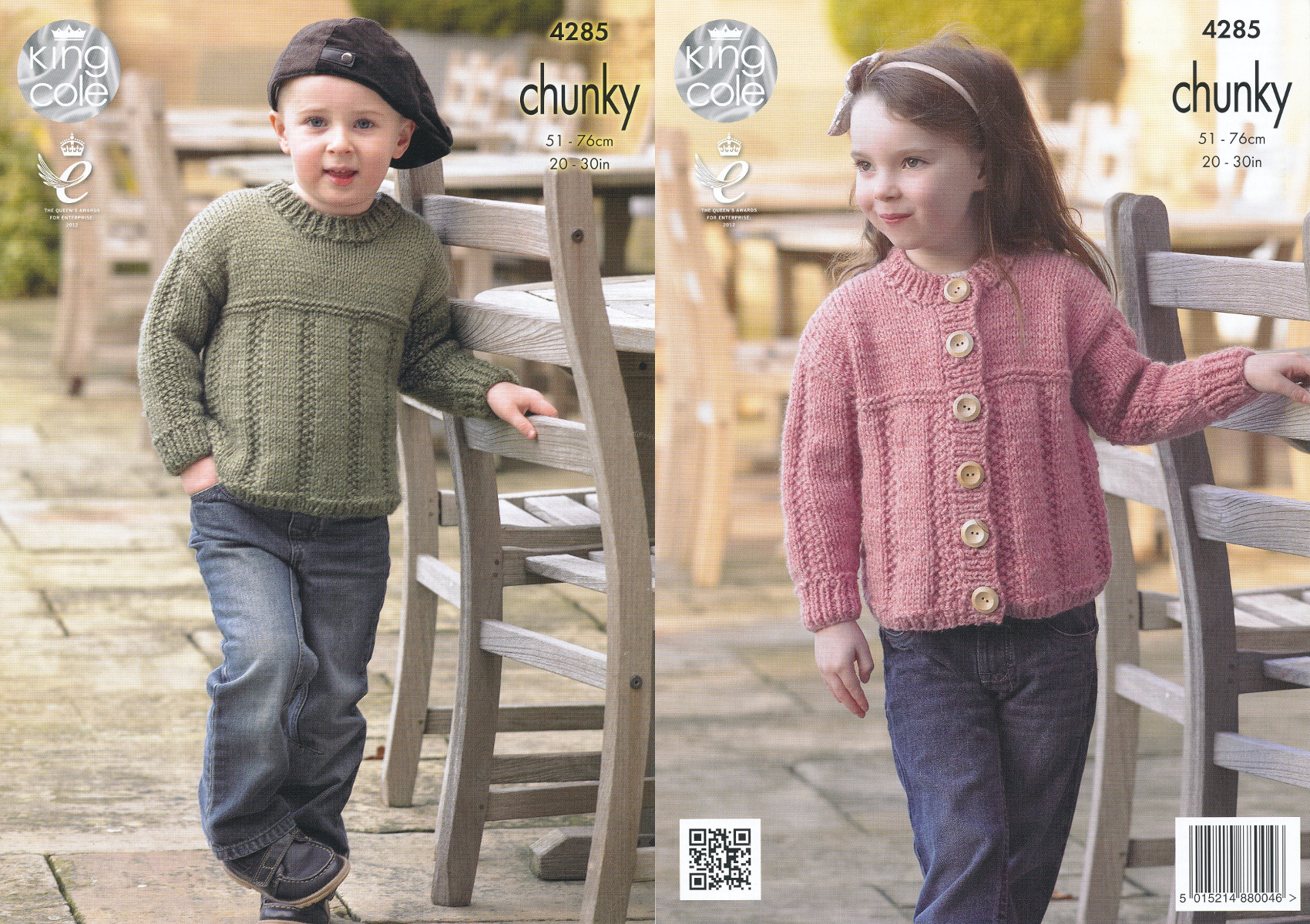 Kids chunky knitting pattern king cole childrens sweater jumper item description this chunky knitting pattern leaflet 4285 by king cole bankloansurffo Gallery