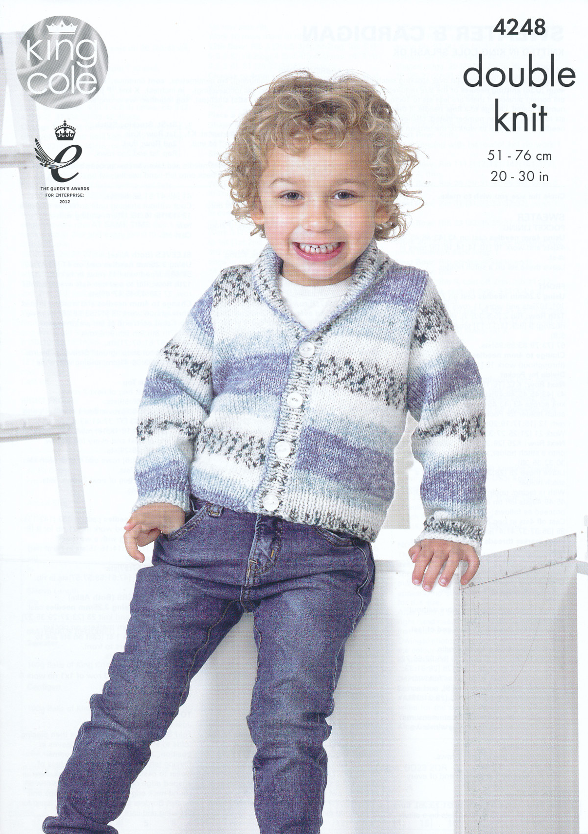 King Cole Splash DK Double Knitting Pattern Childrens Boys Cardigan ...