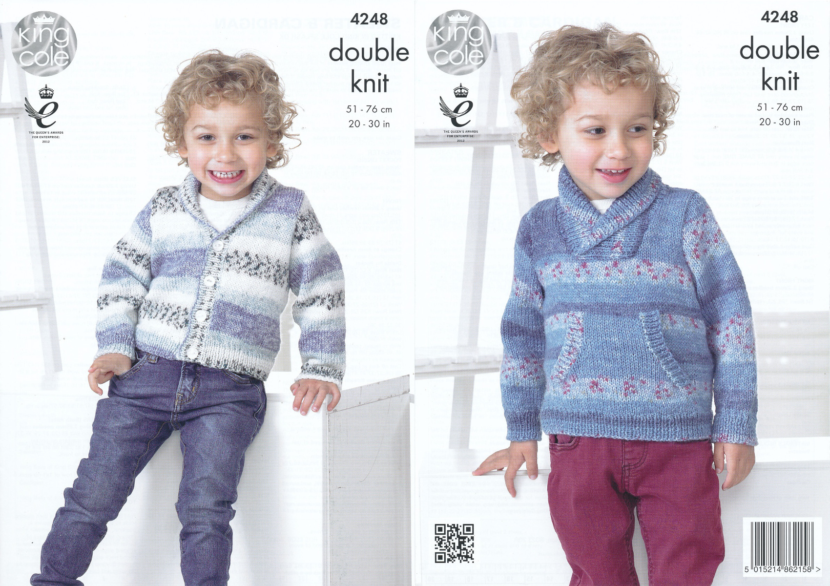 Details about King Cole Splash DK Double Knitting Pattern Childrens Boys  Cardigan Sweater 4248