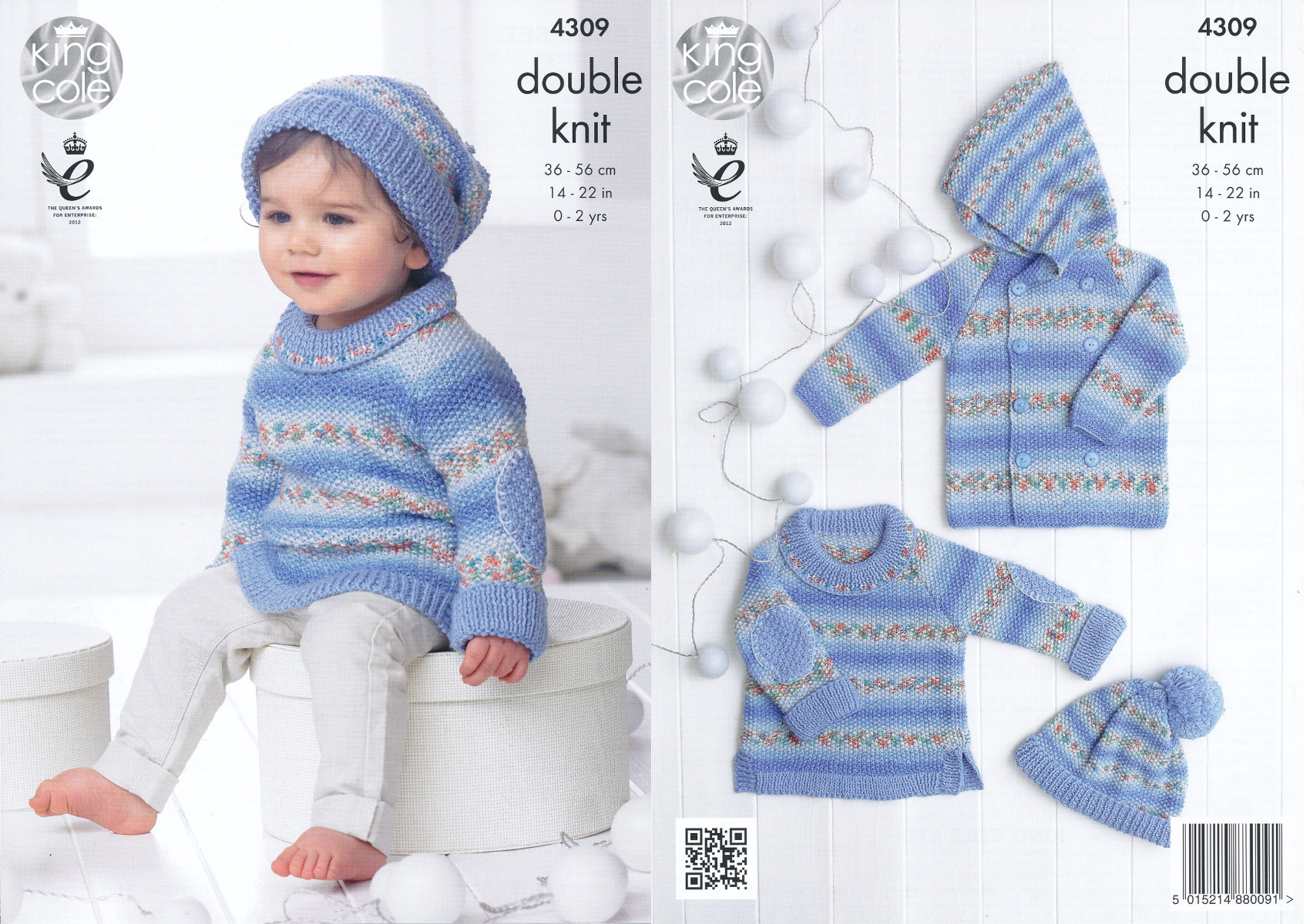 Baby Drifter DK Knitting Pattern King Cole Sweater Jumper Jacket ...