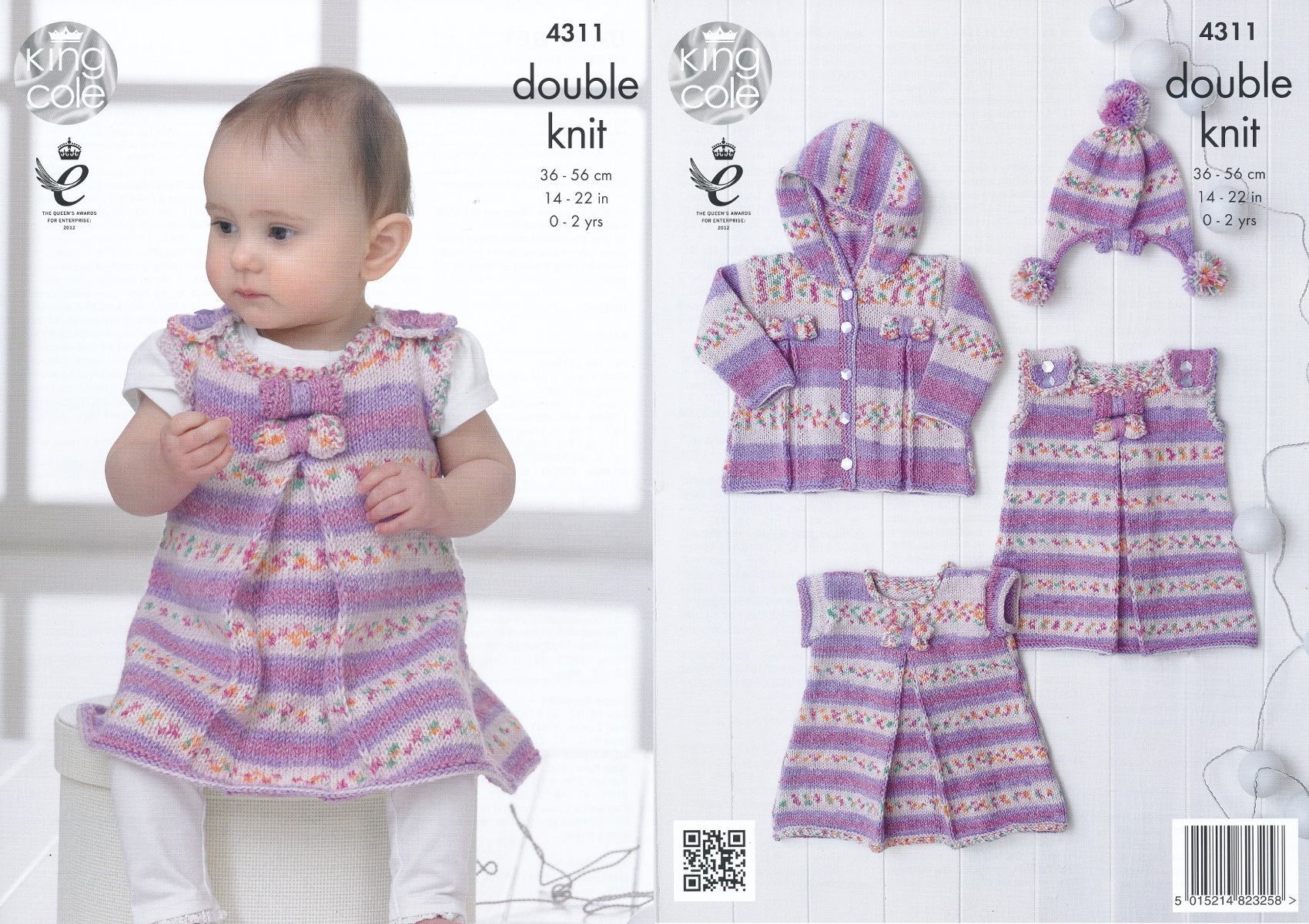 King cole double knitting pattern dress tunic coat hat set baby please look at images below for the chart showing measurements yarn and materials requirement to make this garment bankloansurffo Image collections