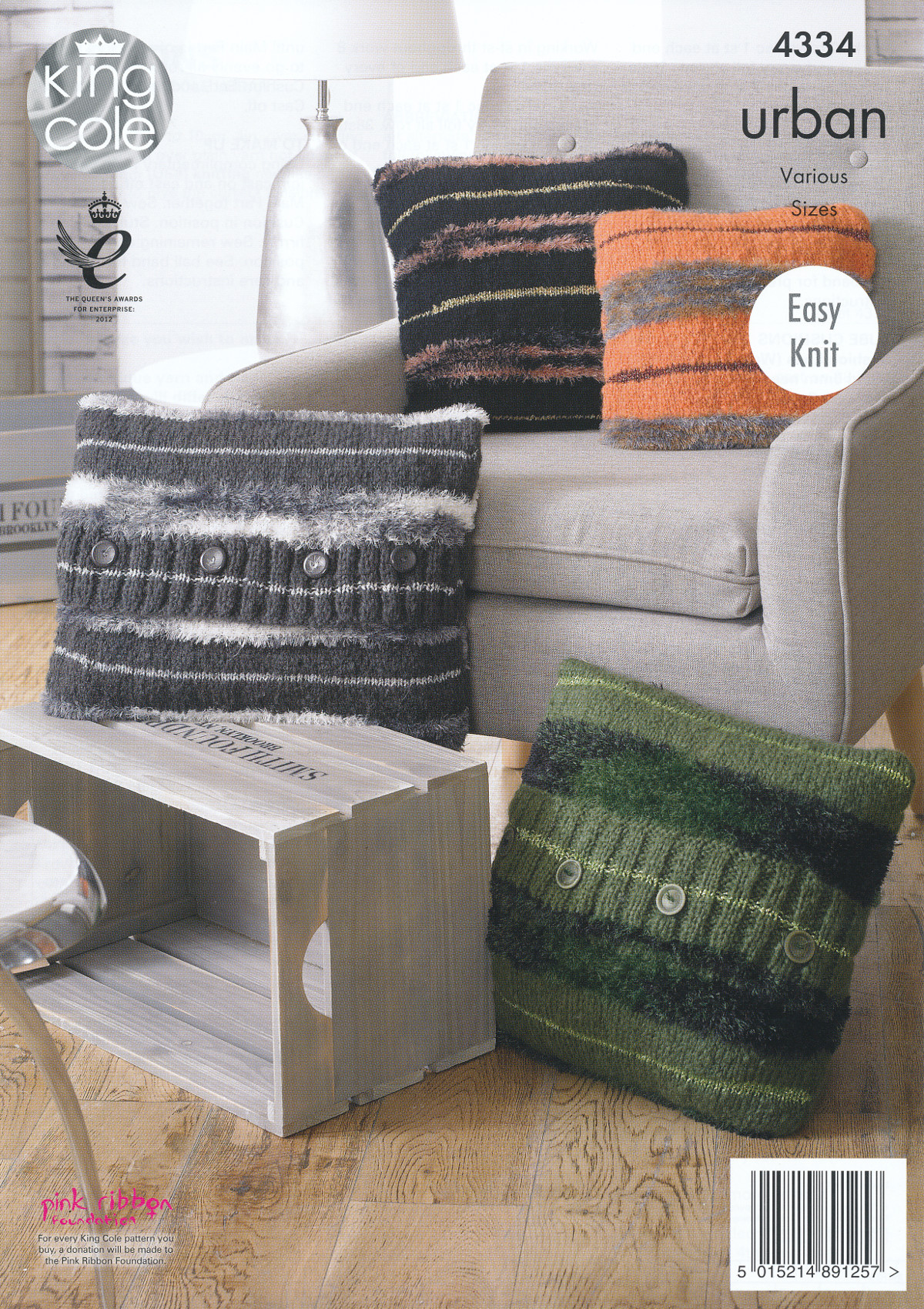 King cole urban knitting pattern cushions round square tube or item description this easy knit knitting pattern bankloansurffo Gallery