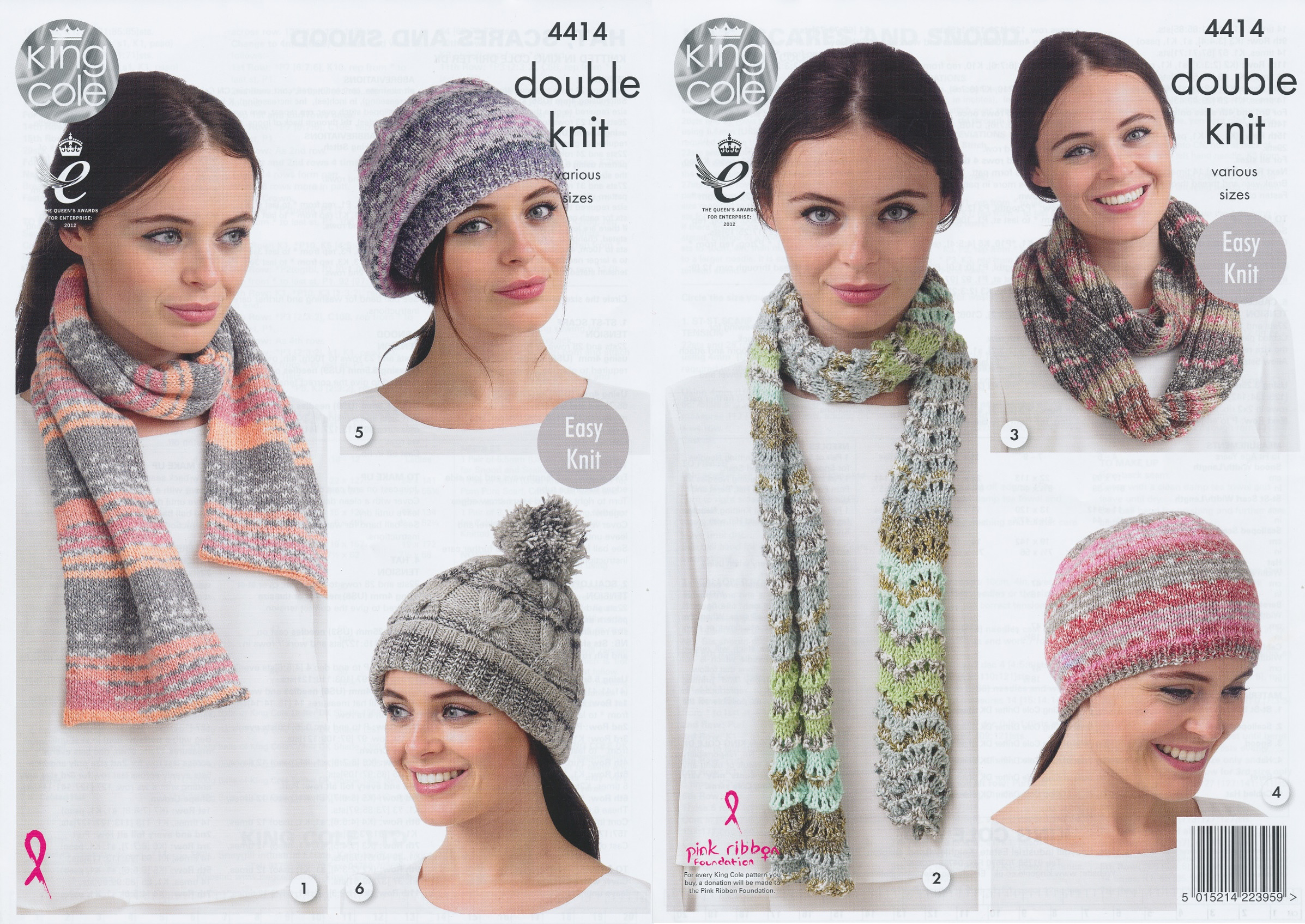 King Cole Ladies Double Knit Pattern Womens Hat Scarves Snood ...