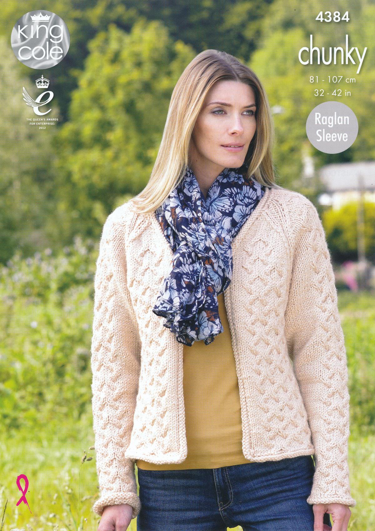 King Cole Ladies Chunky Knitting Pattern Raglan Sleeve Waistcoat ...