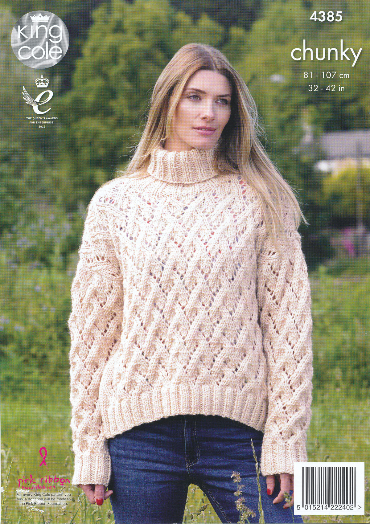 Ladies Chunky Knitting Pattern King Cole Womens Lace