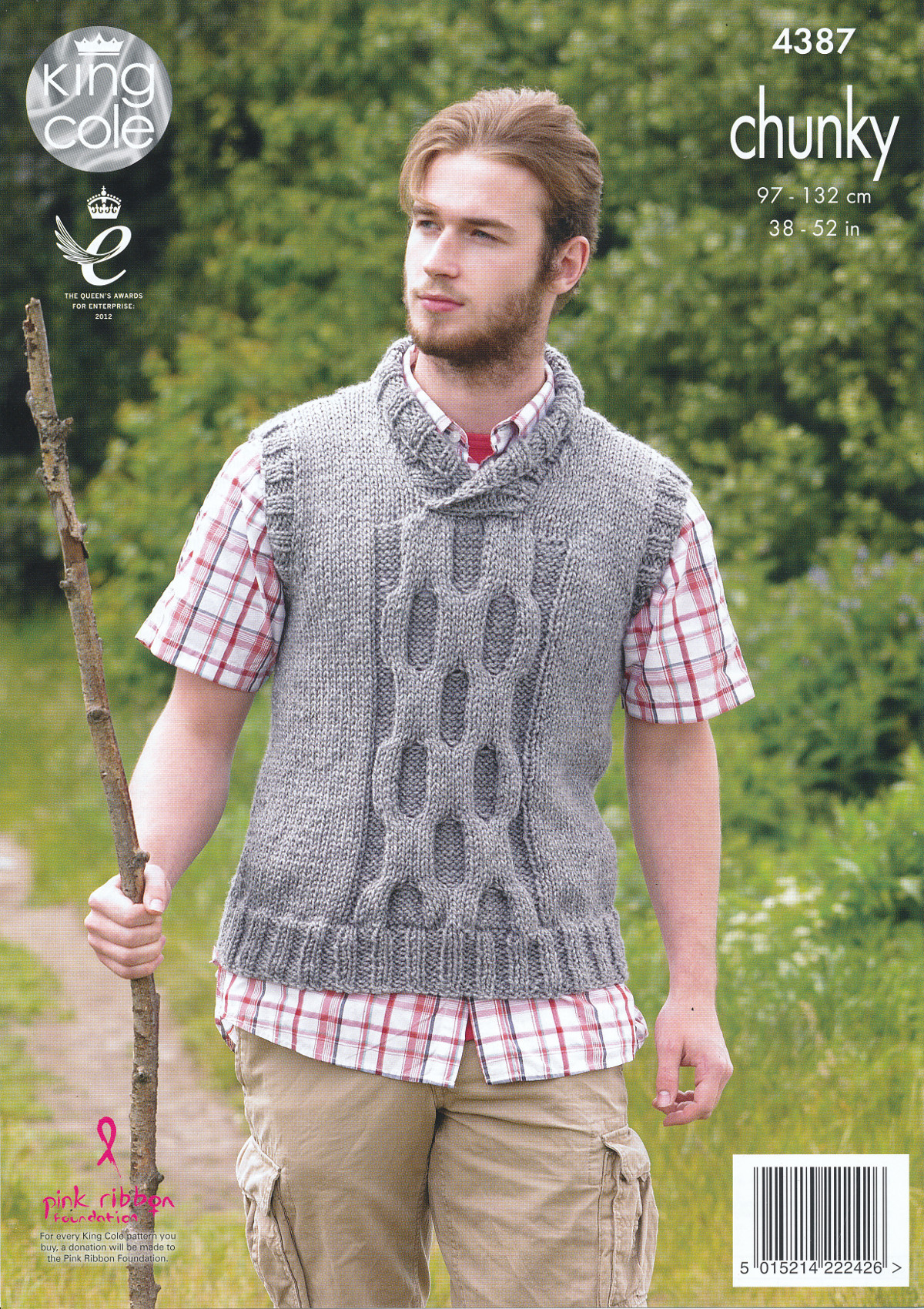 Mens Big Value Chunky Knitting Pattern King Cole Cable Knit Jumper ...