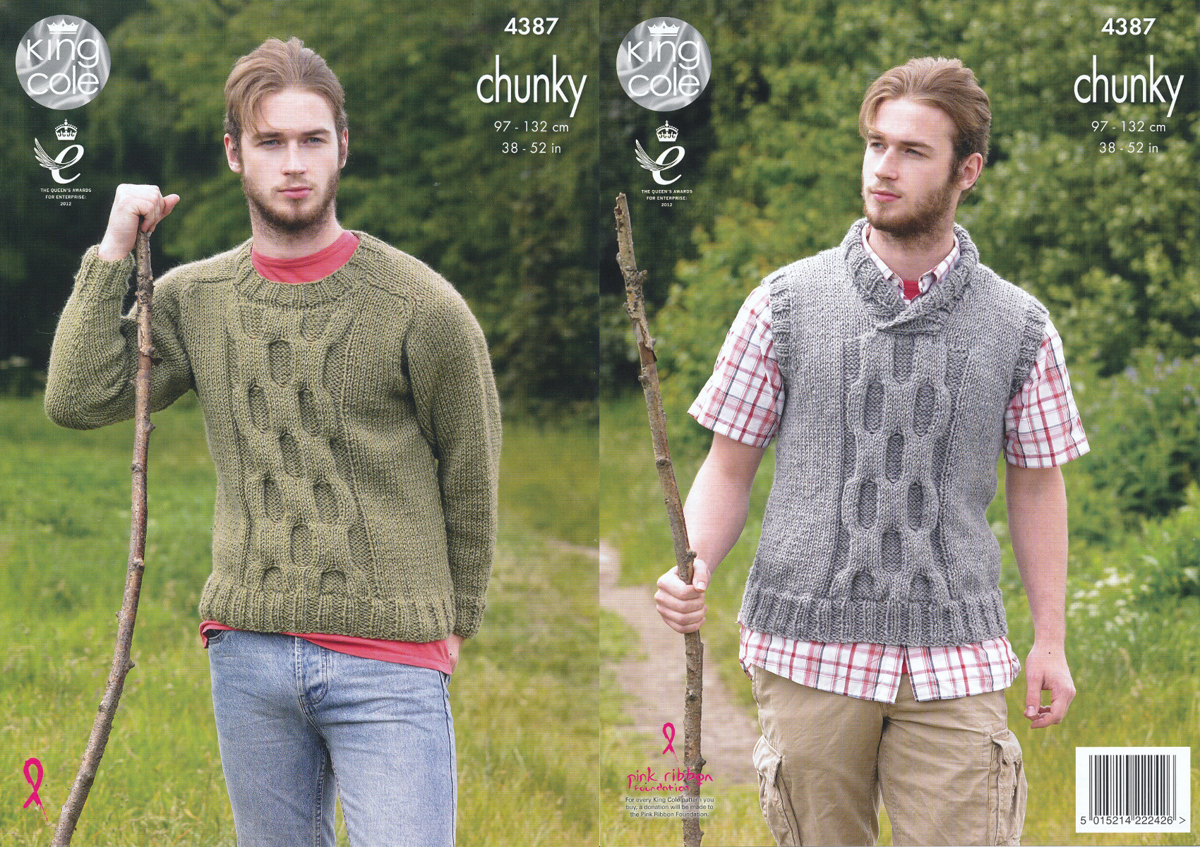 Mens big value chunky knitting pattern king cole cable knit jumper item description this chunky knitting pattern bankloansurffo Gallery