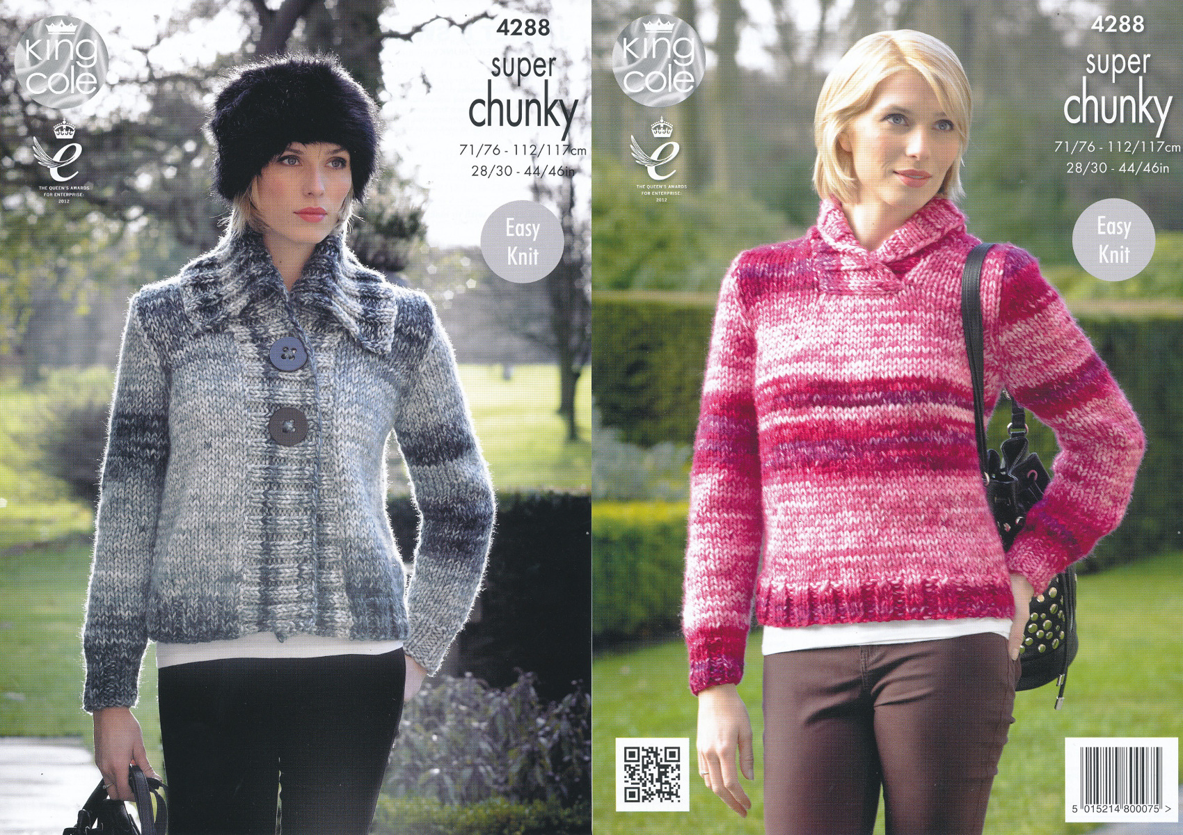 Ladies super chunky knitting pattern king cole ribbed jacket item description this easy knit king cole super chunky knitting pattern bankloansurffo Gallery