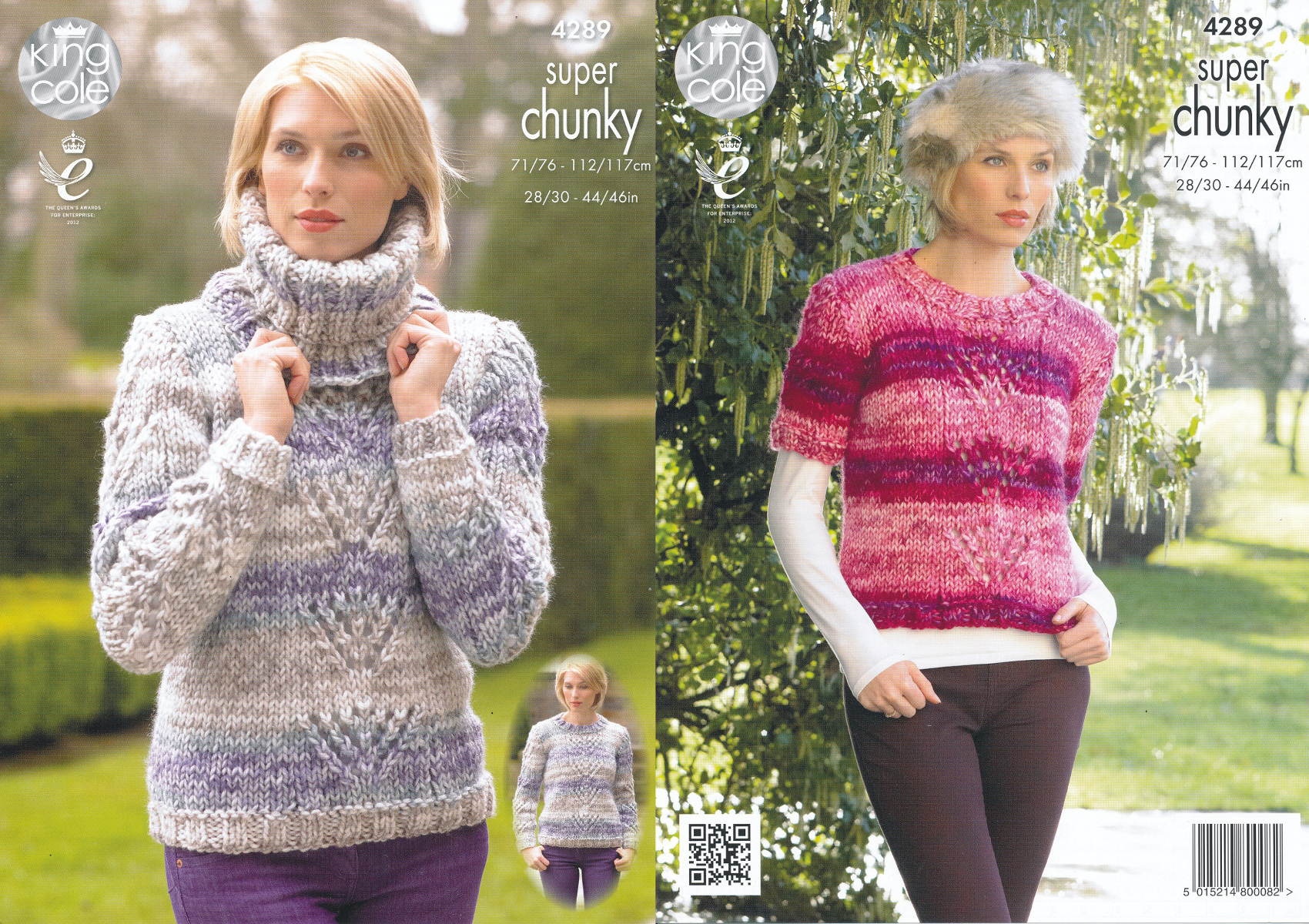 Ladies super chunky knitting pattern king cole lace effect jumpers item description this king cole super chunky knitting pattern bankloansurffo Gallery