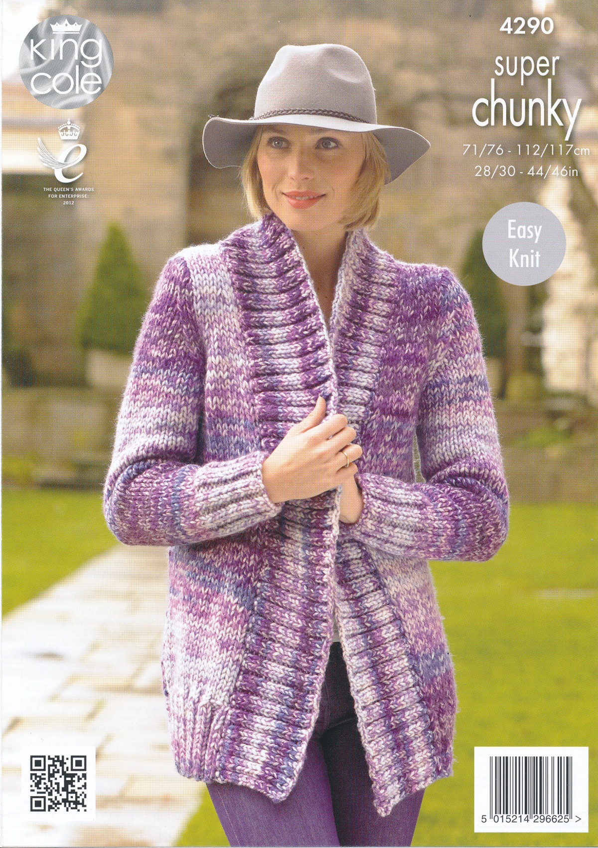 King Cole Ladies Easy Knit Super Chunky Knitting Pattern Ribbed ...