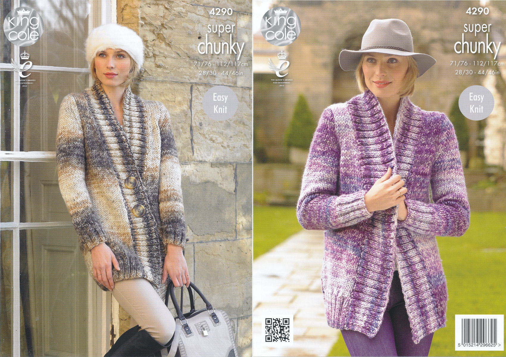 Ladies Super Chunky Knitting Pattern King Cole Ribbed Jackets ...