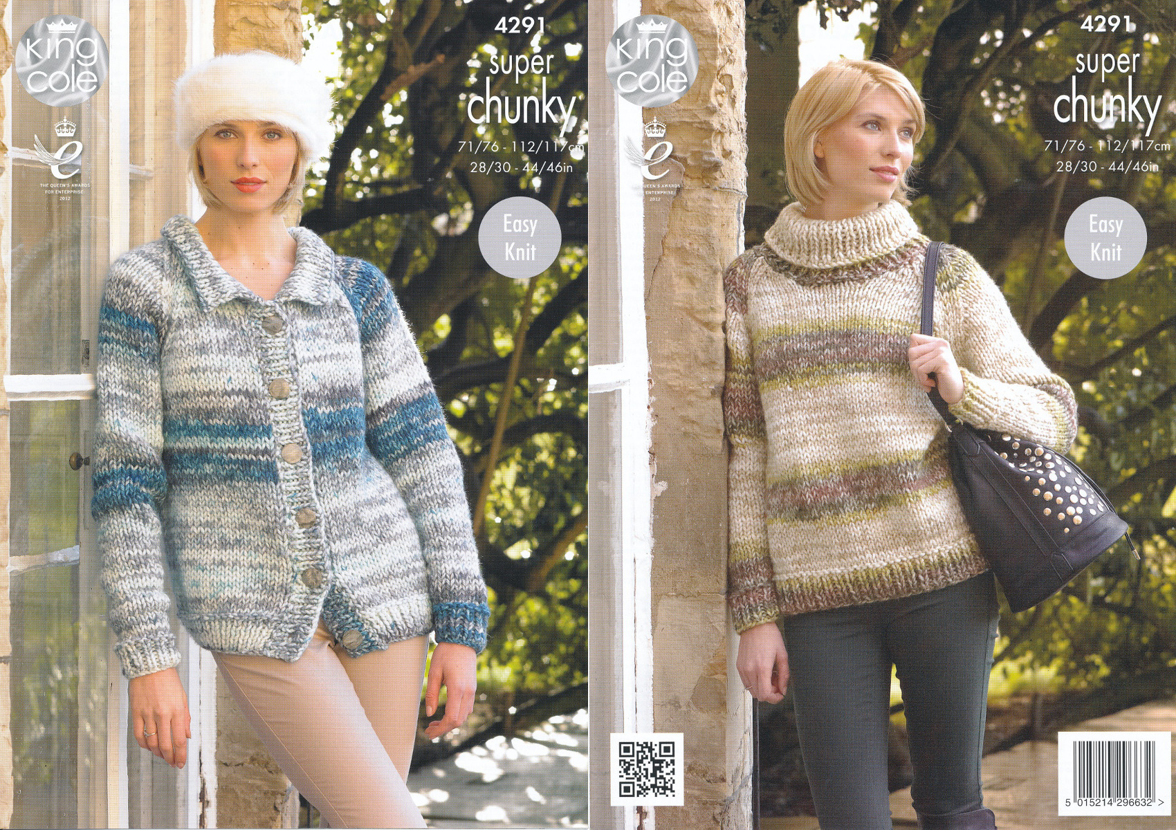 King Cole Ladies Easy Knit Super Chunky Knitting Pattern Sweater ...