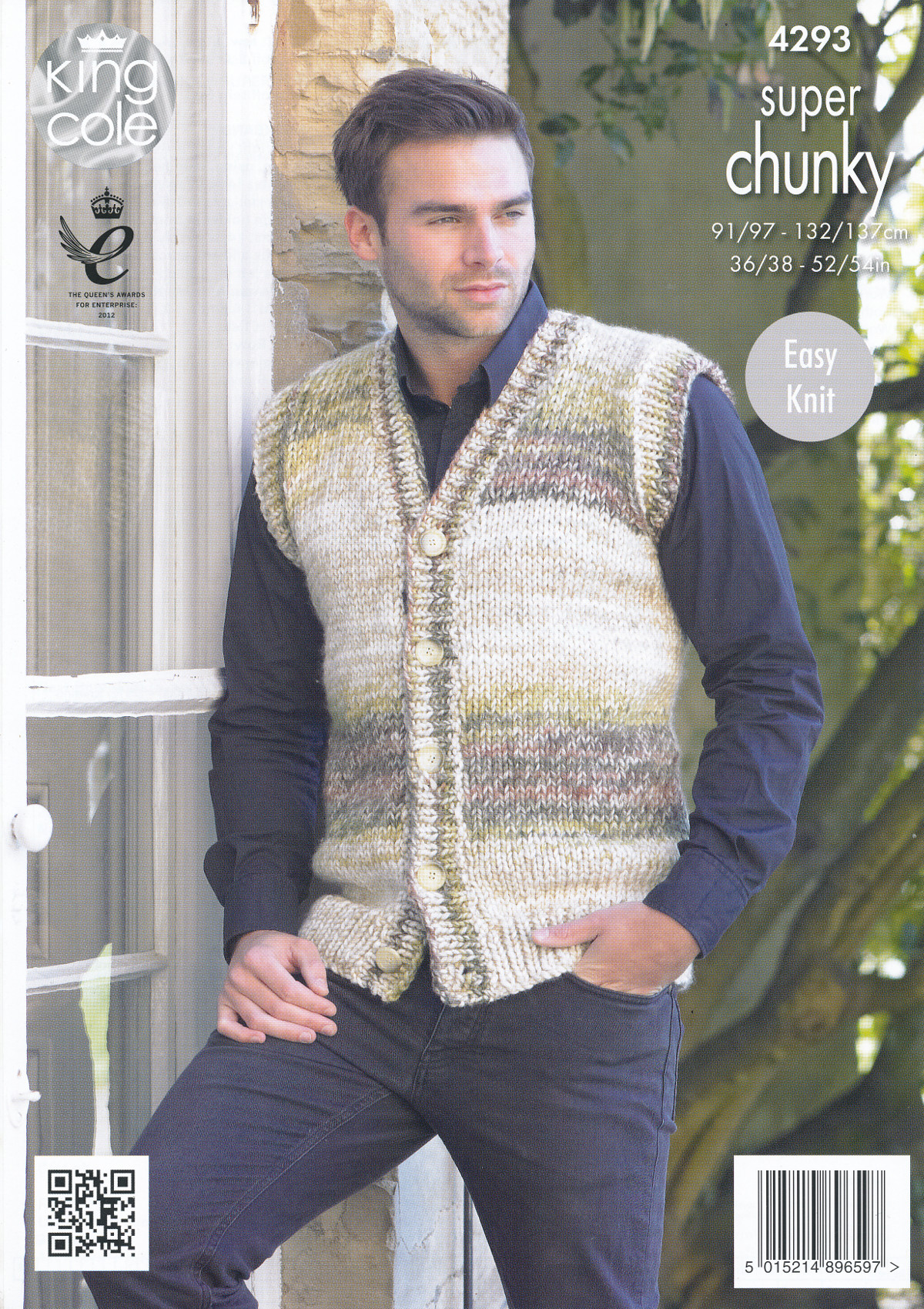 King Cole Mens Super Chunky Knitting Pattern Easy Knit Jumper ...