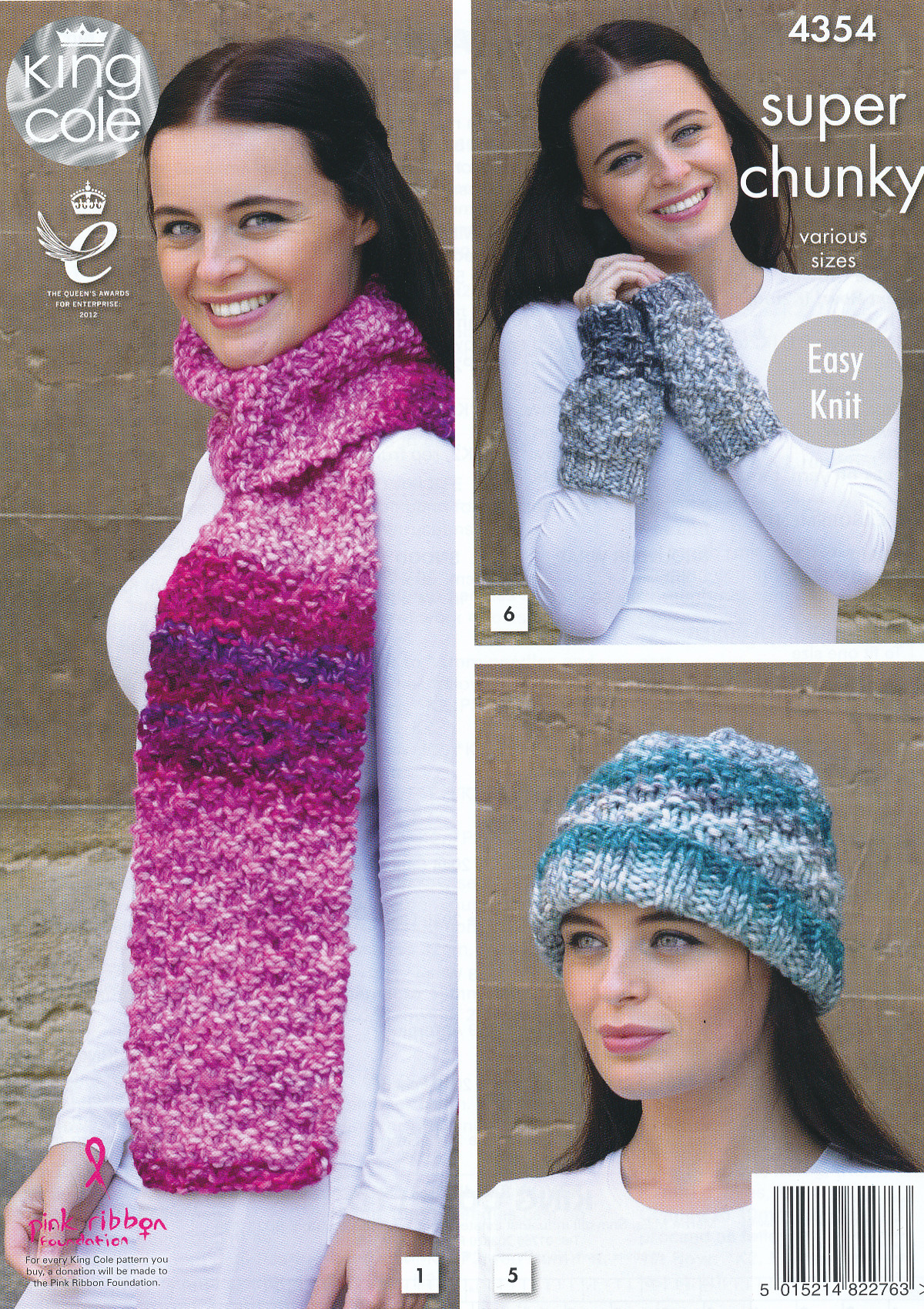 King cole ladies knitting pattern scarf wrap snood hat wrist the wool illustrated is king cole big value super chunky super chunky tints please see our other listings for our range of yarns bankloansurffo Images