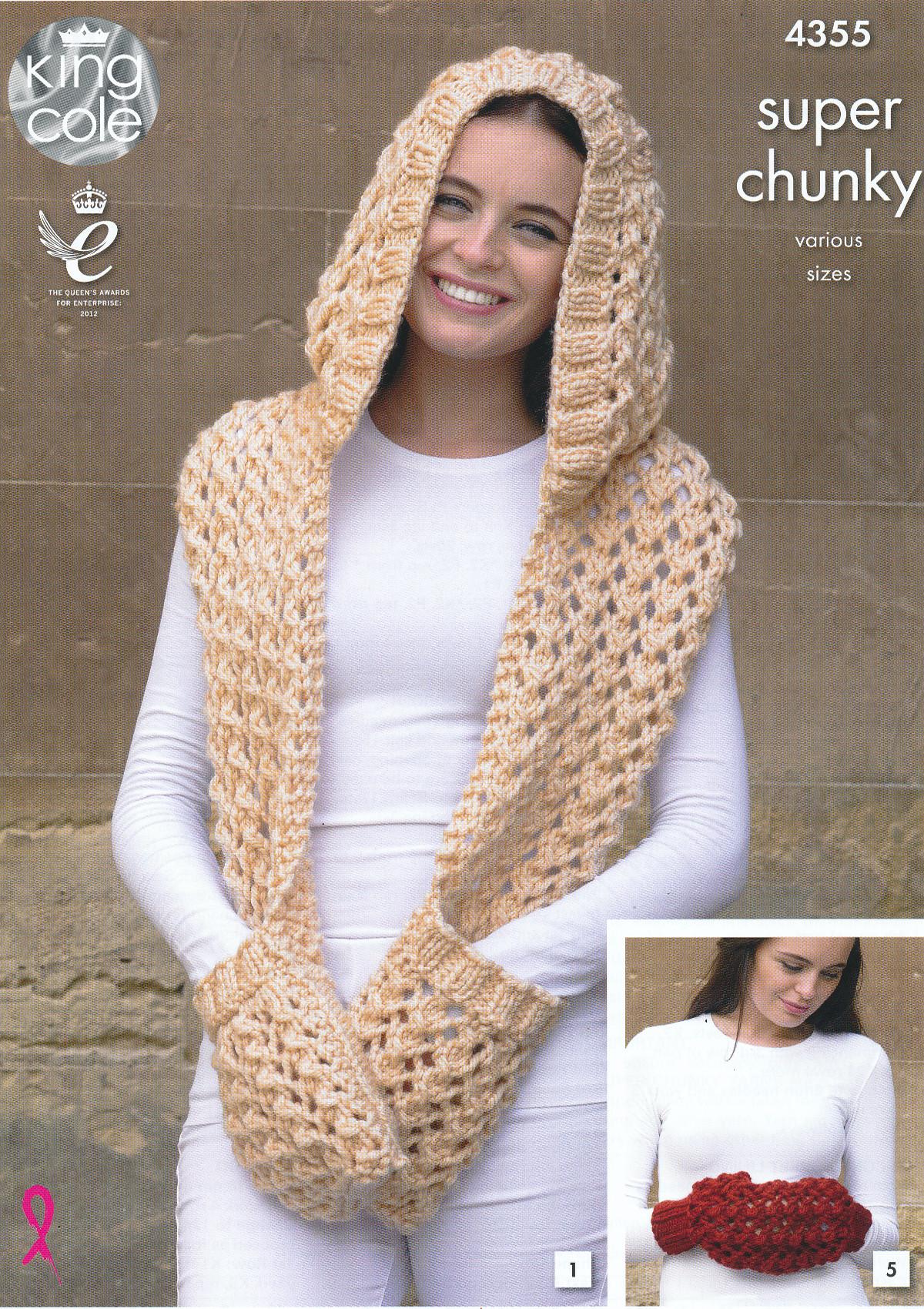 Ladies Super Chunky Knitting Pattern King Cole Womens Winter ...