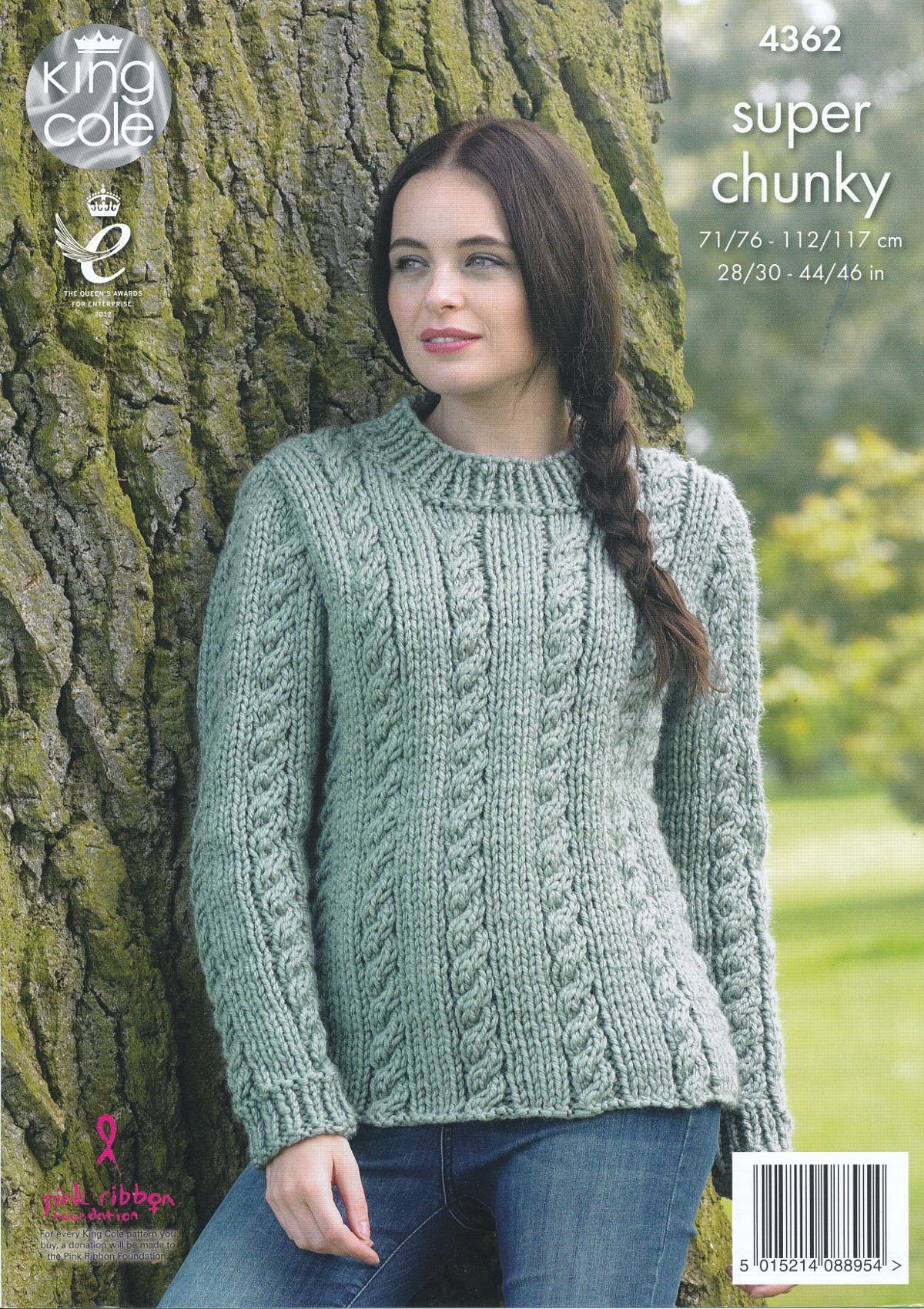 Knitting Patterns For Larger Ladies : Ladies Super Chunky Knitting Pattern King Cole Cable Knit Jumper Waistcoat 43...