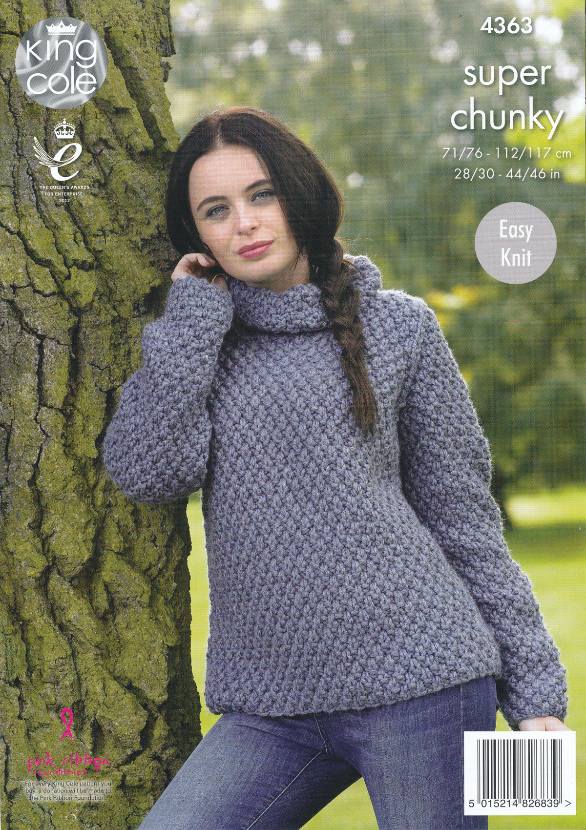 Ladies Super Chunky Knitting Pattern King Cole Easy Knit Sweater