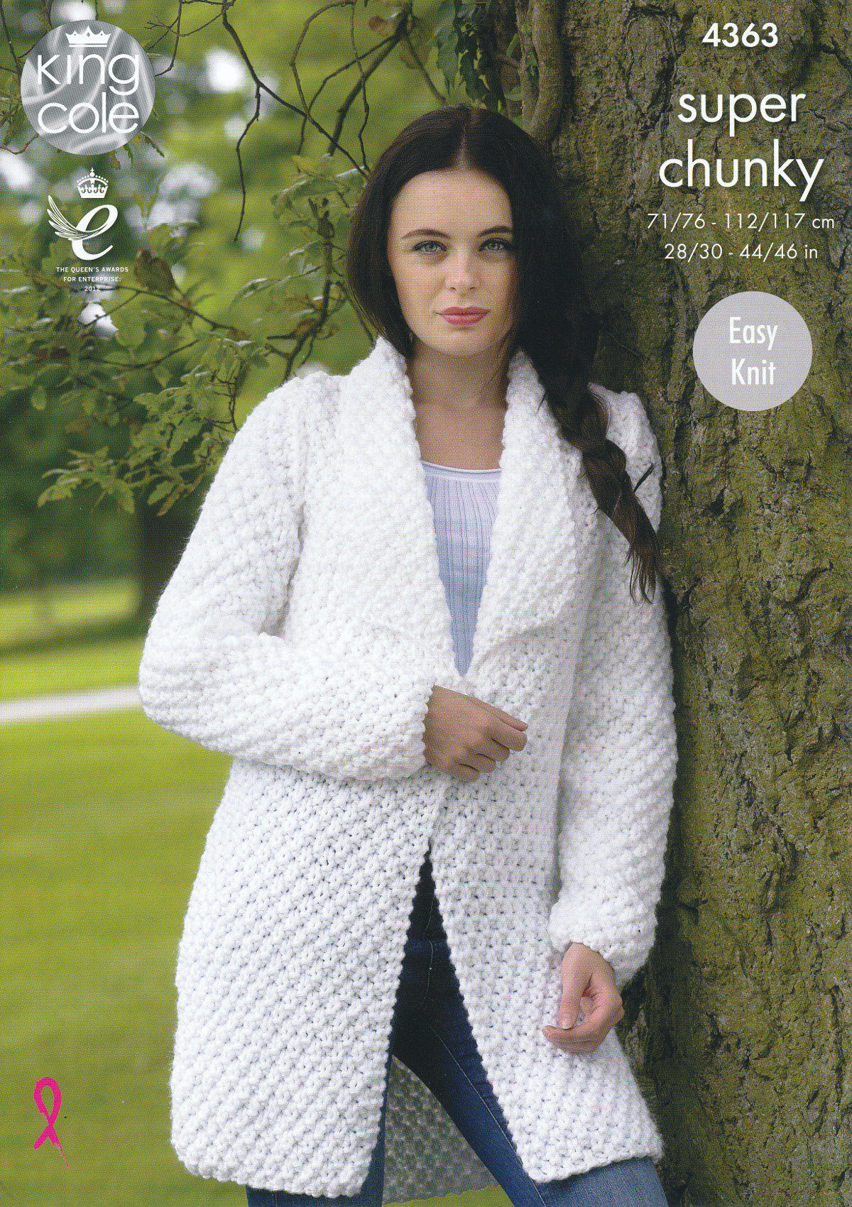 Knitting Patterns For Jackets Chunky : Ladies Super Chunky Knitting Pattern King Cole Easy Knit Sweater & Jacket...