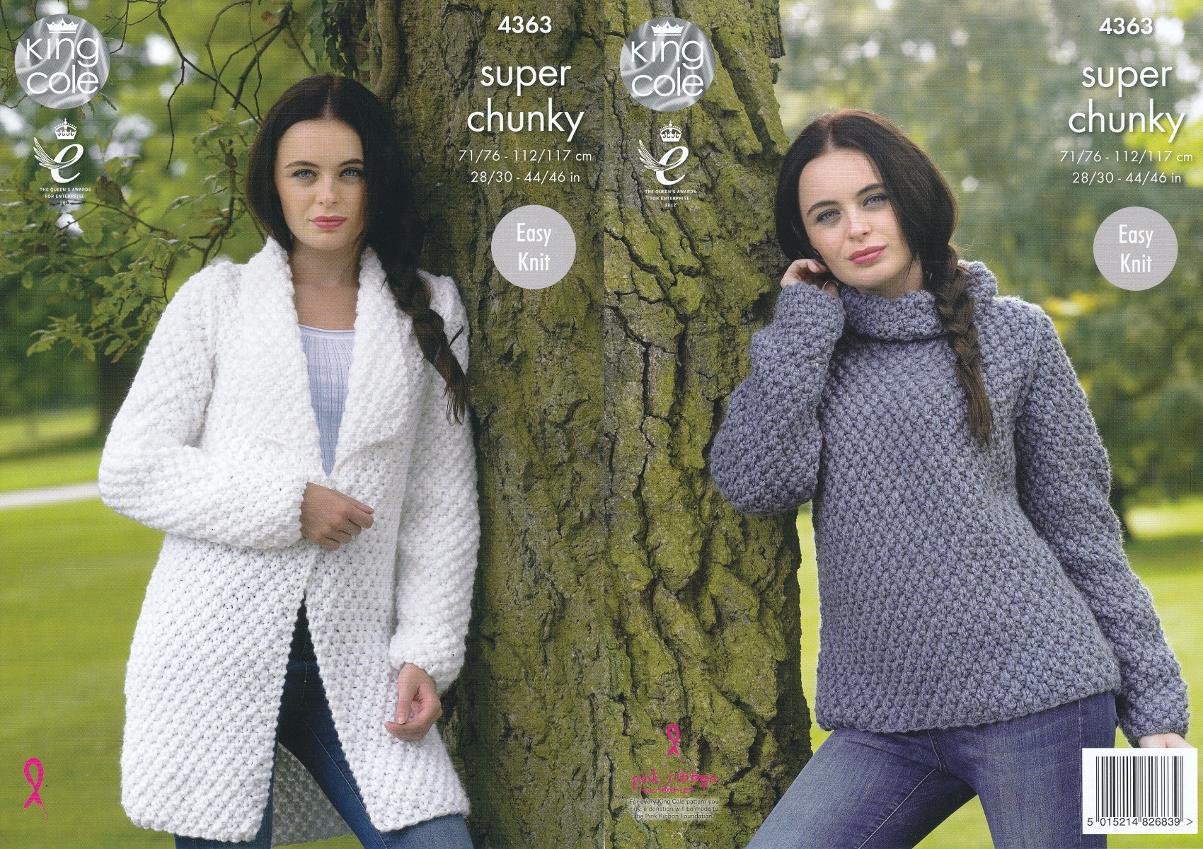 a67c6b851 Ladies Super Chunky Knitting Pattern King Cole Easy Knit Sweater   Jacket  4363