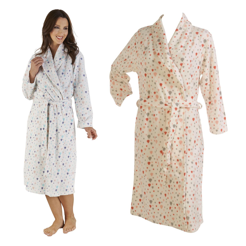 Bathrobe Ladies Soft Micro Fleece Dressing Gown Slenderella Womens Balloon  Print eea071182