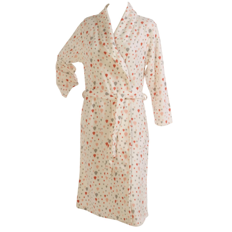 Bathrobe Ladies Soft Micro Fleece Dressing Gown Slenderella Womens Balloon  Print cde1ac296d