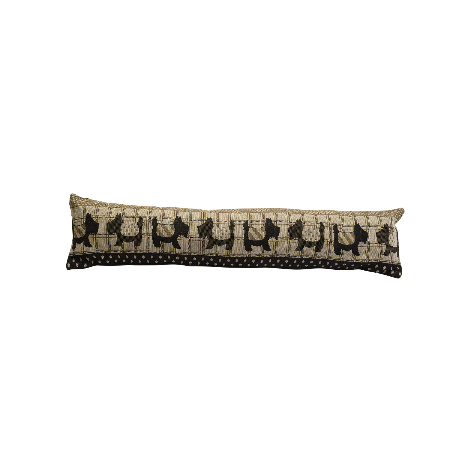 Scottie Dogs Animal Design Draught Excluder Tapestry Style Fabric Door Cushion  sc 1 st  eBay & Scottie Dogs Animal Design Draught Excluder Tapestry Style Fabric ...