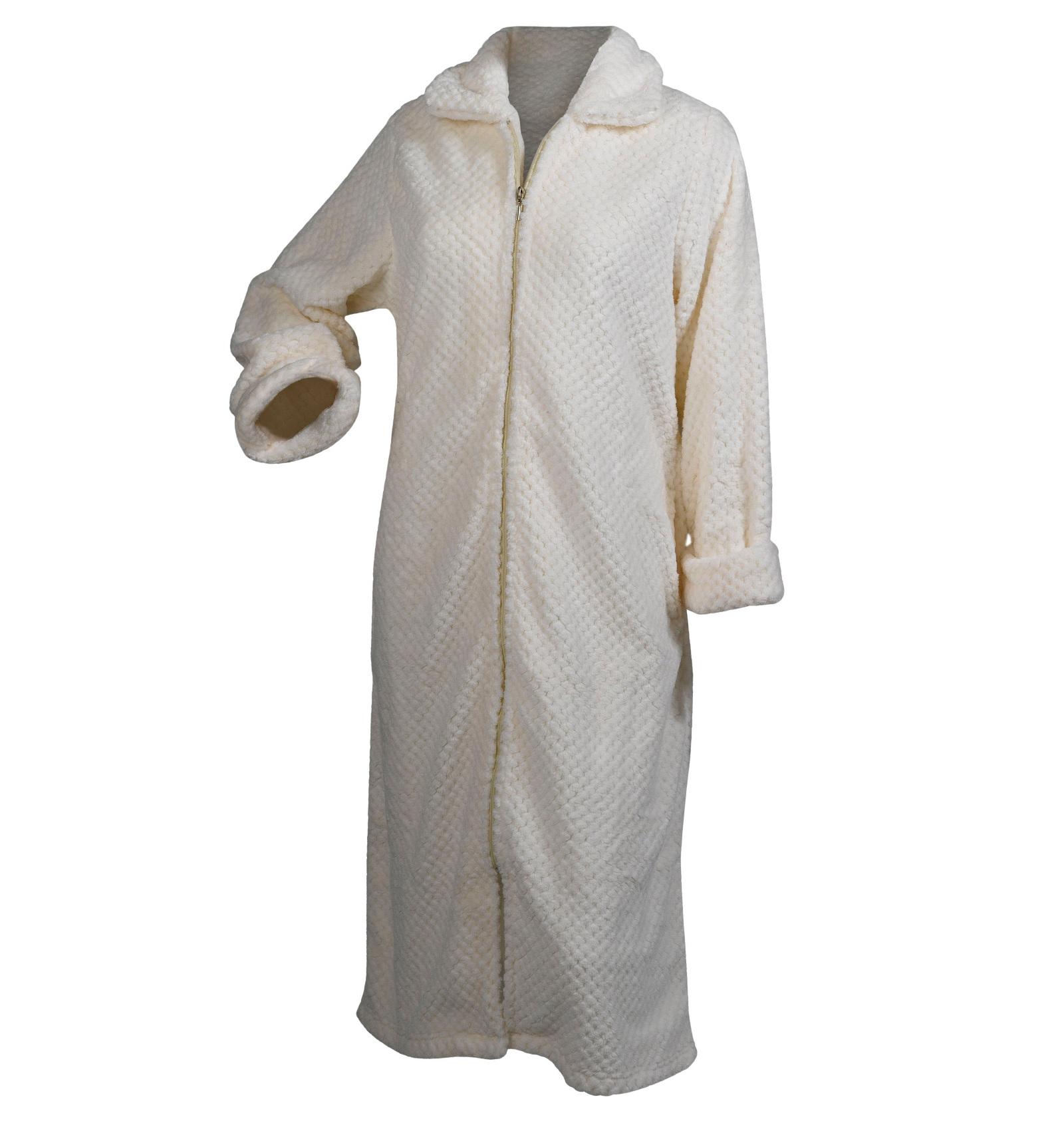 Ladies Slenderella Soft Waffle Fleece Bathrobe Womens Hooded Wrap ...