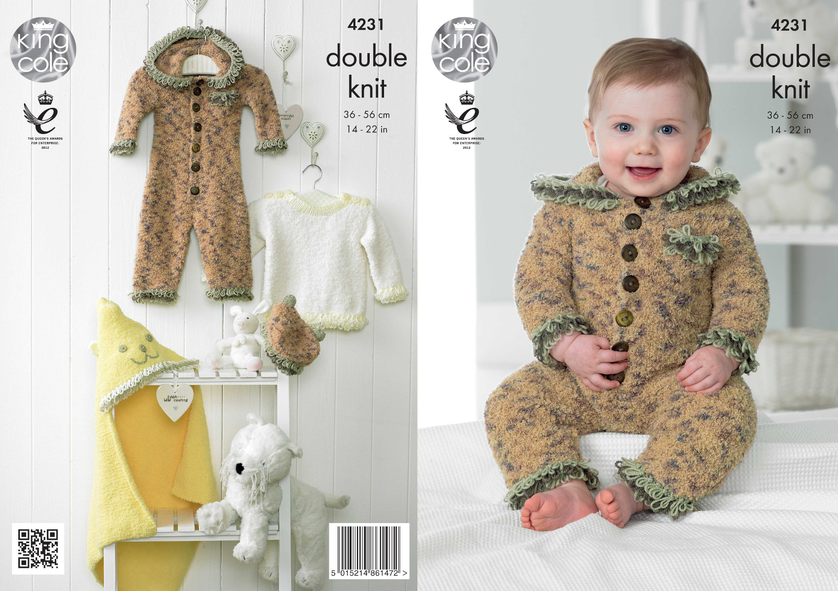 Baby Set Knitting Pattern King Cole Cuddles DK Jumpsuit Sweater ...