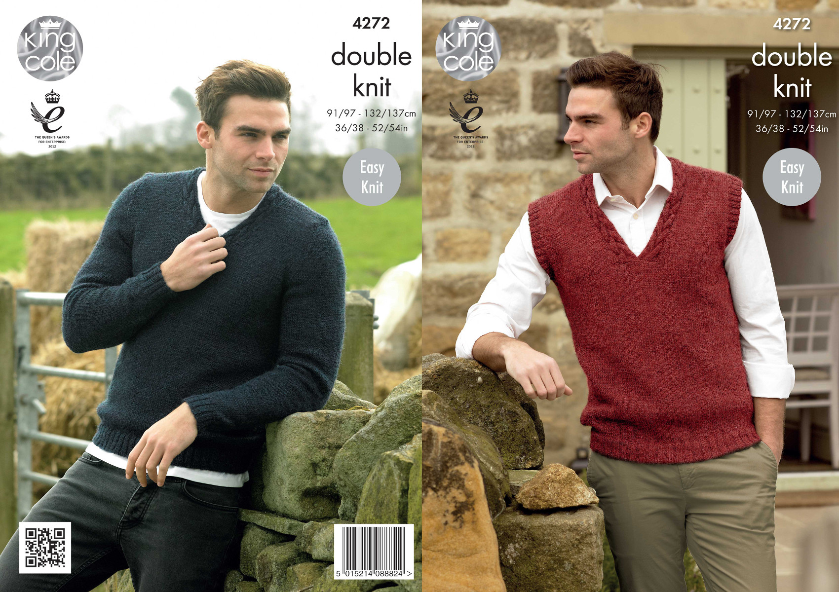 King cole mens double knitting pattern easy knit v neck sweater king cole mens double knitting pattern easy knit v neck sweater slipover dk 4272 bankloansurffo Image collections